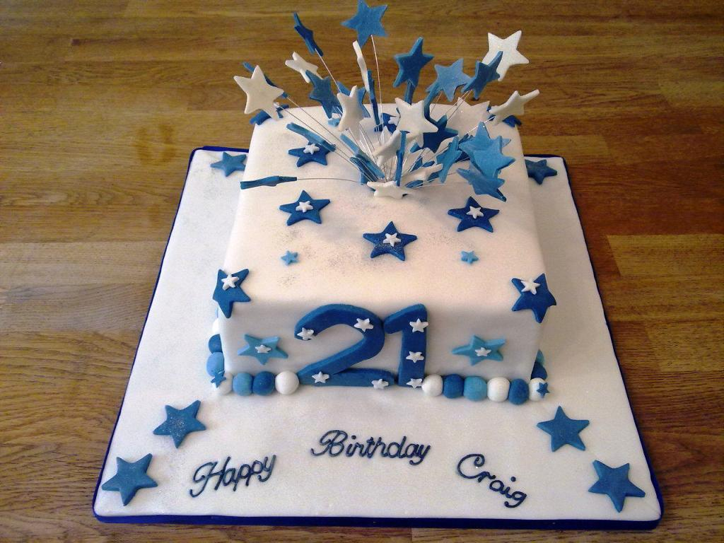 1024 X 768 In 21 Exclusive Image Of 21St Birthday Cakes For Him
