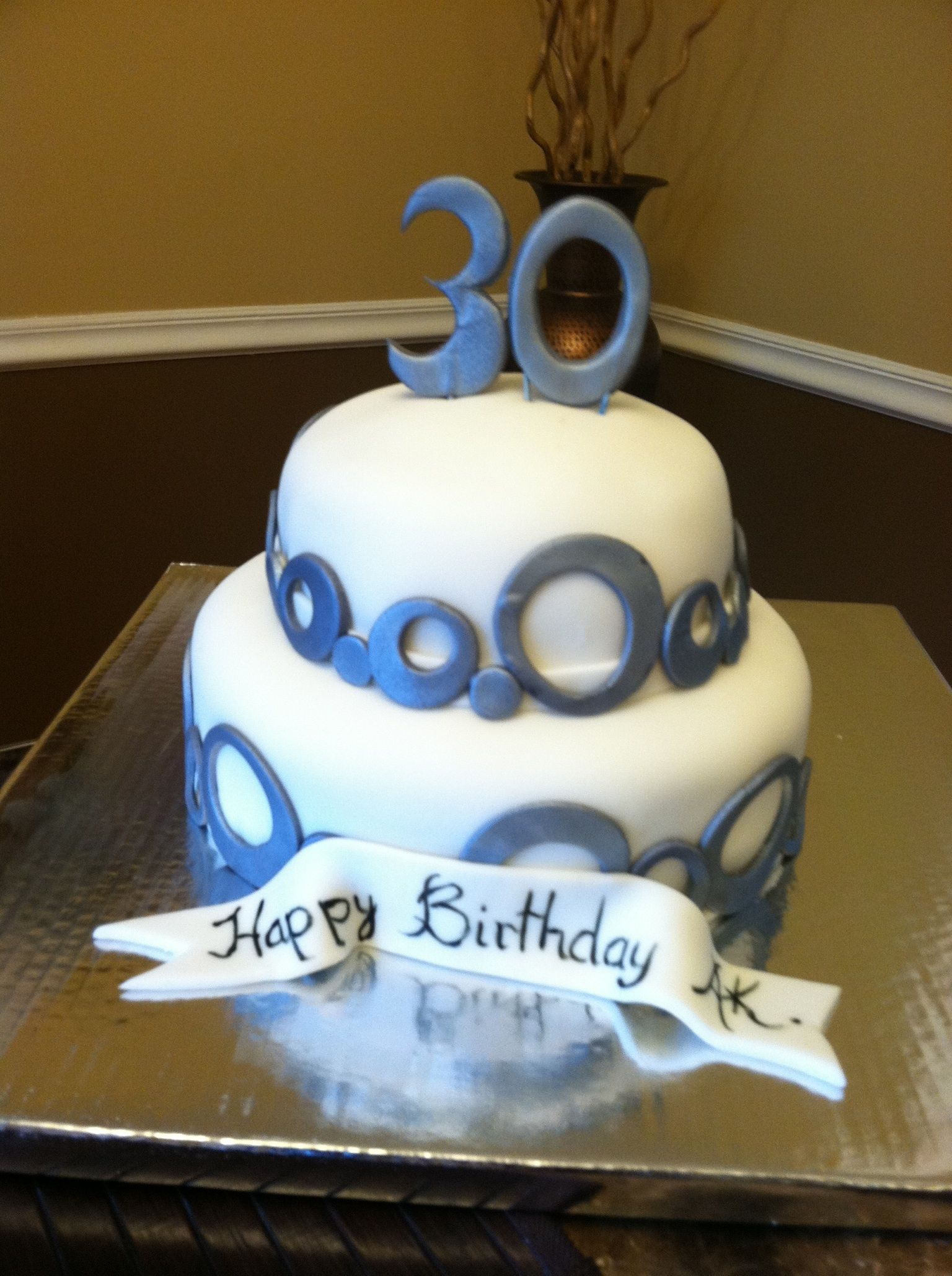30Th Birthday Cake For Him 30th Male Kitchen Creations Pinterest