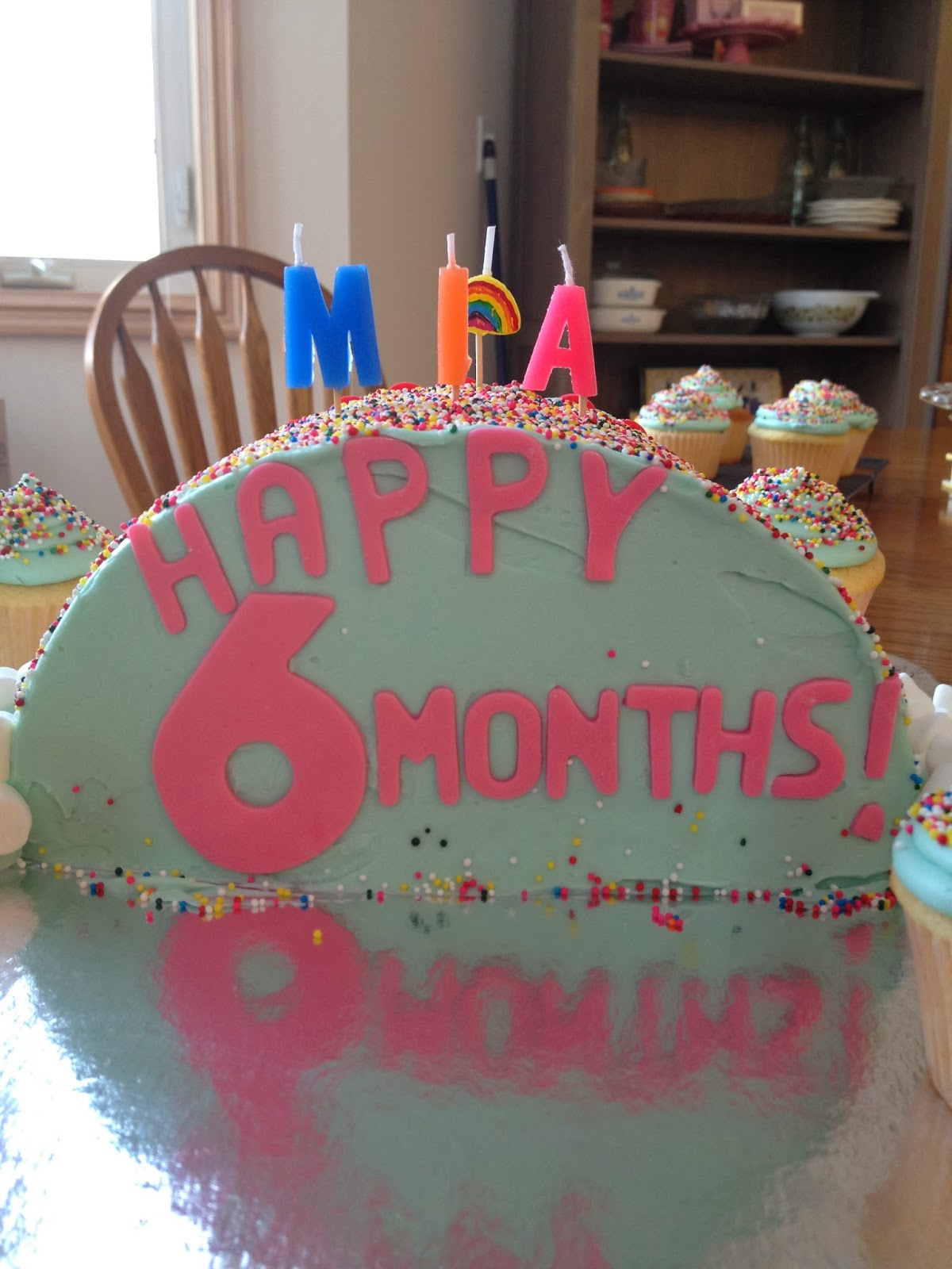 6 Month Birthday Cake Mias Months Old Heart Soul Flour