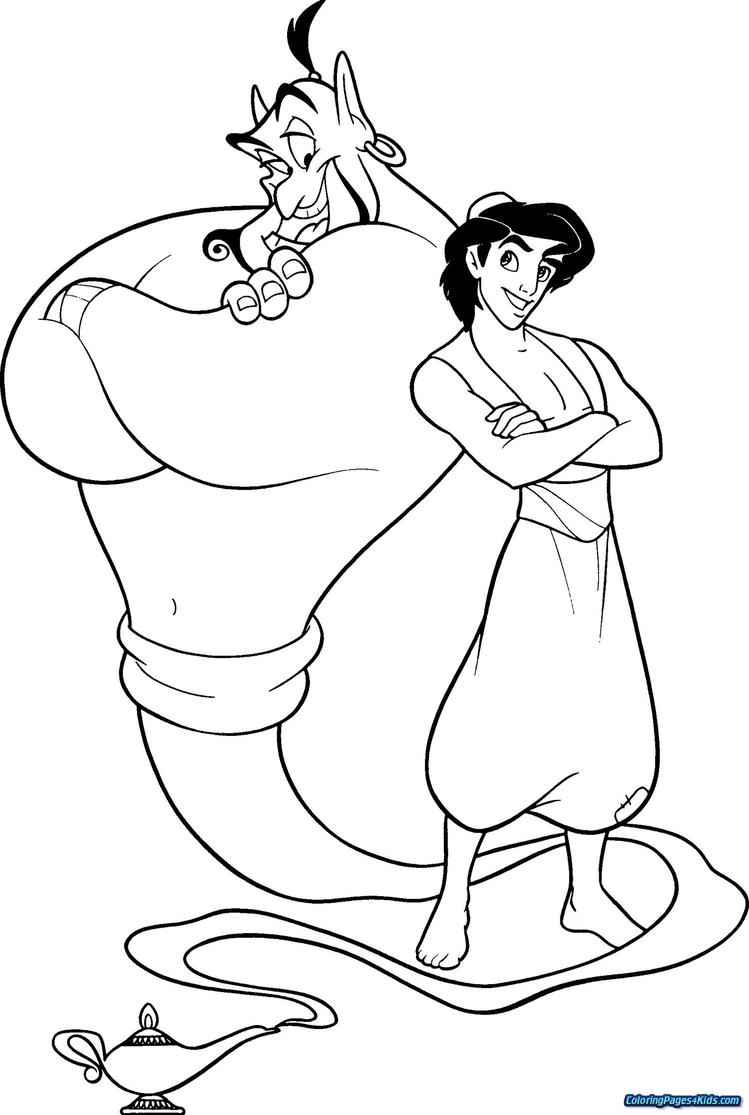 Aladdin Coloring Pages Aladdin And Jasmine Coloring Pages Free