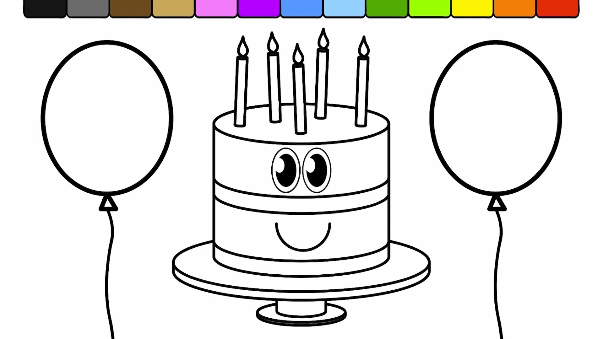 - Balloon Coloring Pages Balloon Coloring Pages I7 Learn Colors For