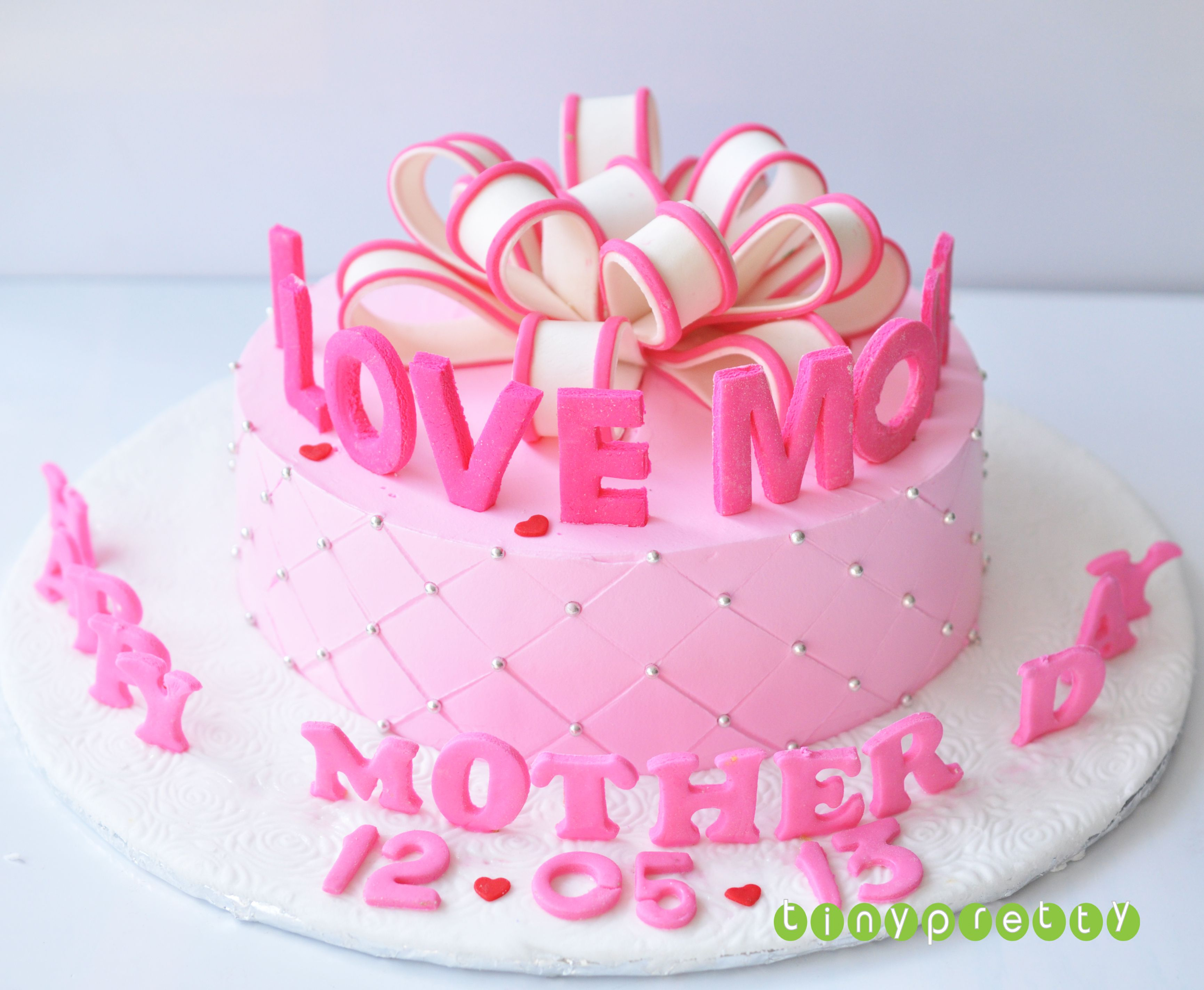 Birthday Cake For Mom Happy Mother Day Cake Birthday Fondant Cake