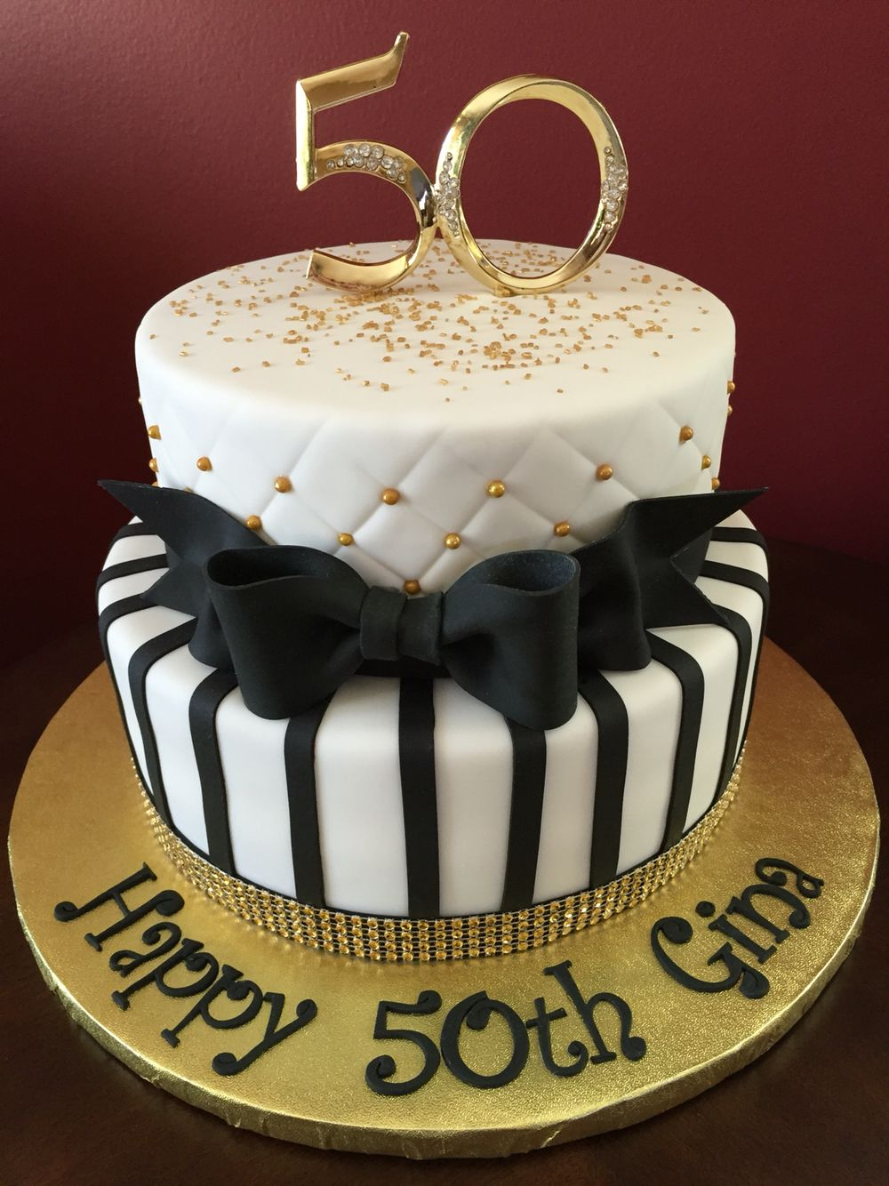 1334 In 25 Great Picture Of Black And Gold Birthday Cake