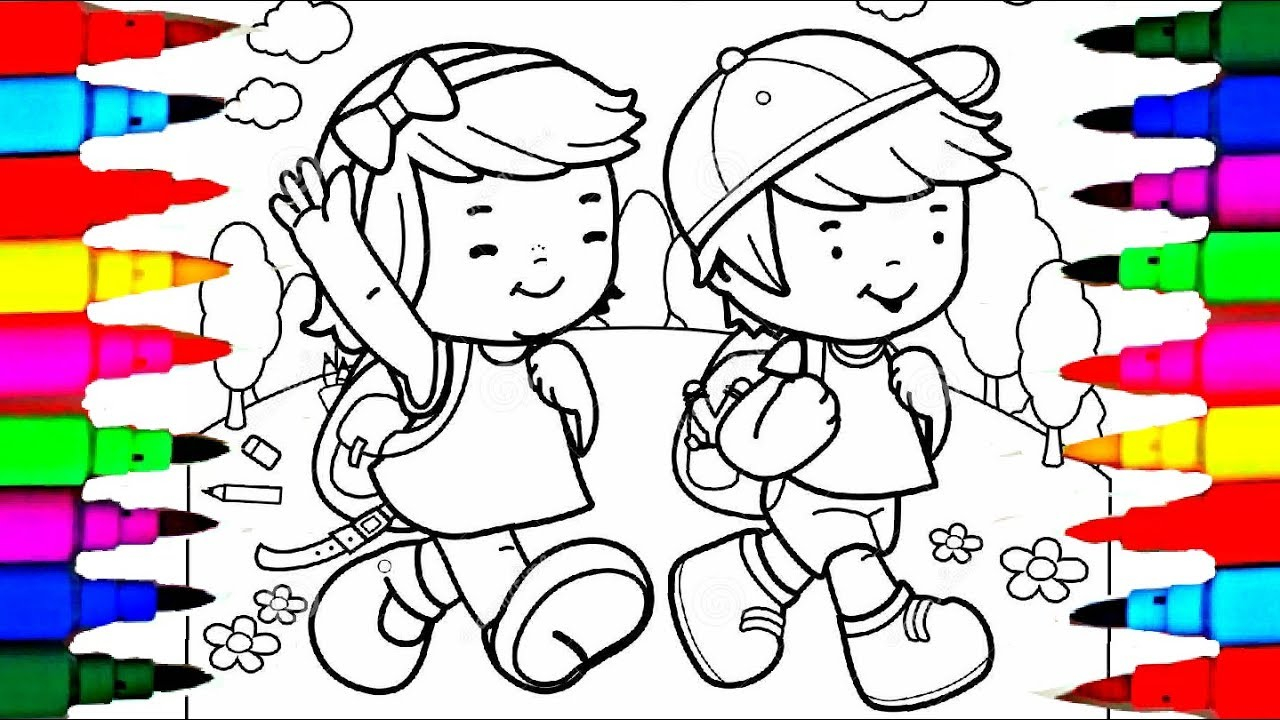 Boy with Girl coloring page | Free Printable Coloring Pages | 720x1280