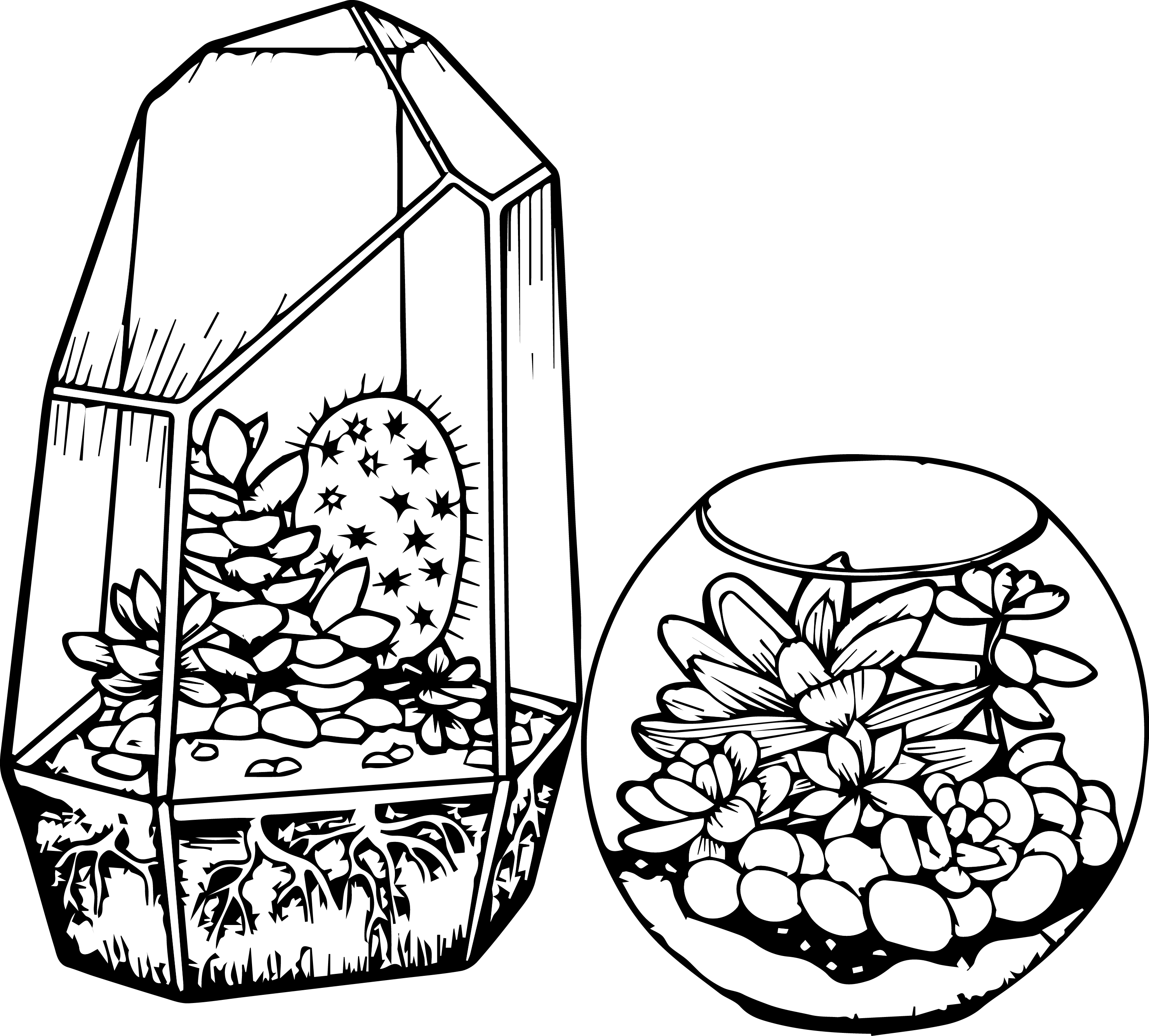 photo about Free Printable Cactus Coloring Pages known as Cactus Coloring Web page Cactus And Succulent Printable Grownup