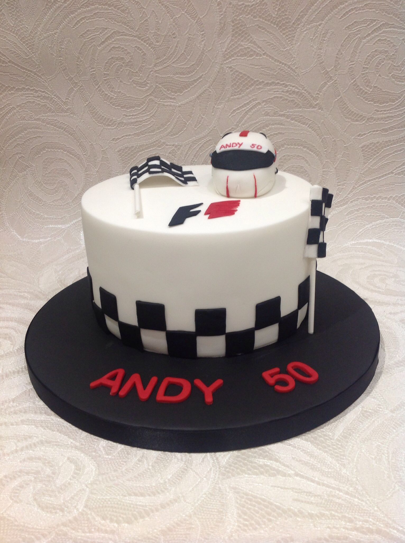 Cakes For Mens Birthday Formula One Cake In