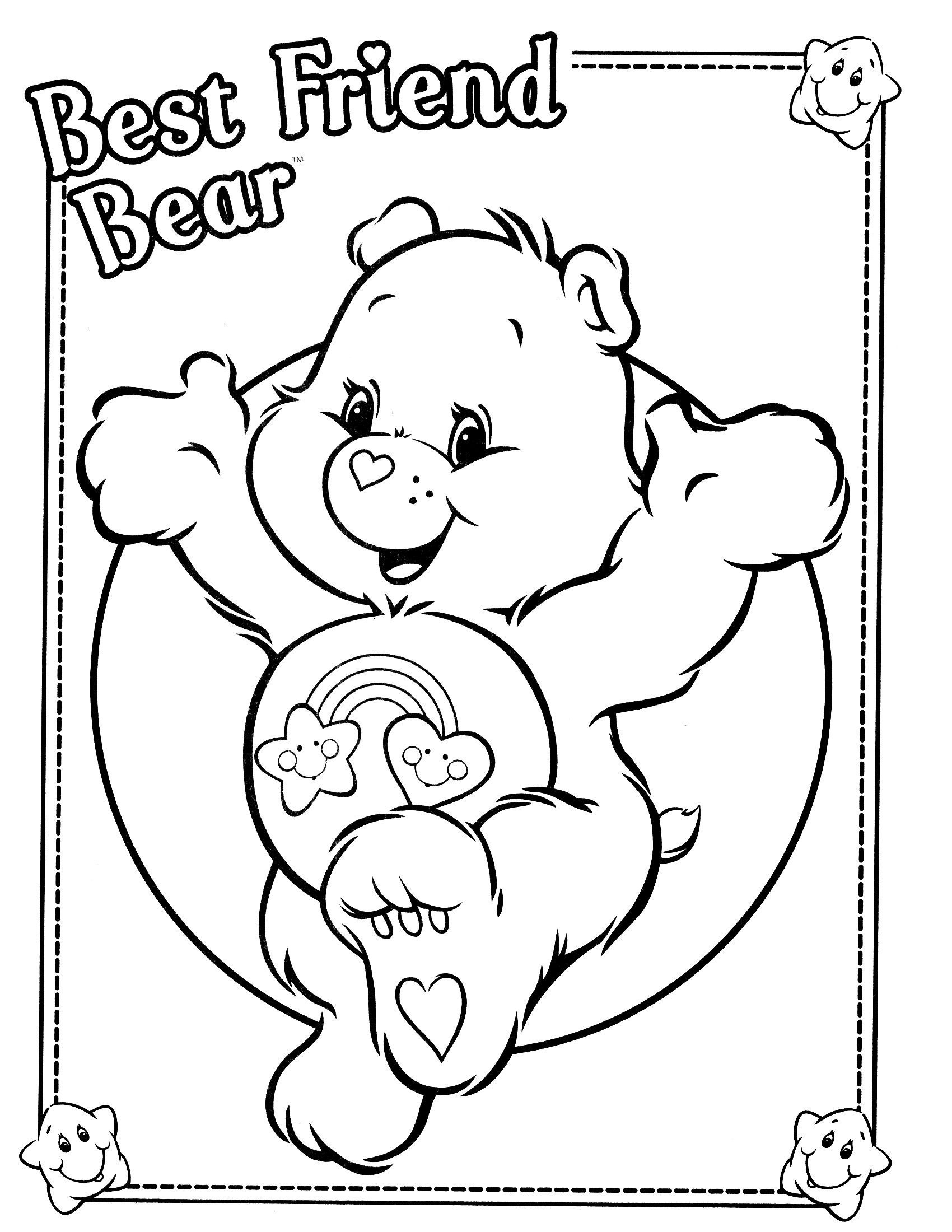 Care Bears 51 Coloring Page - Free The Care Bears Coloring Pages ... | 2200x1700
