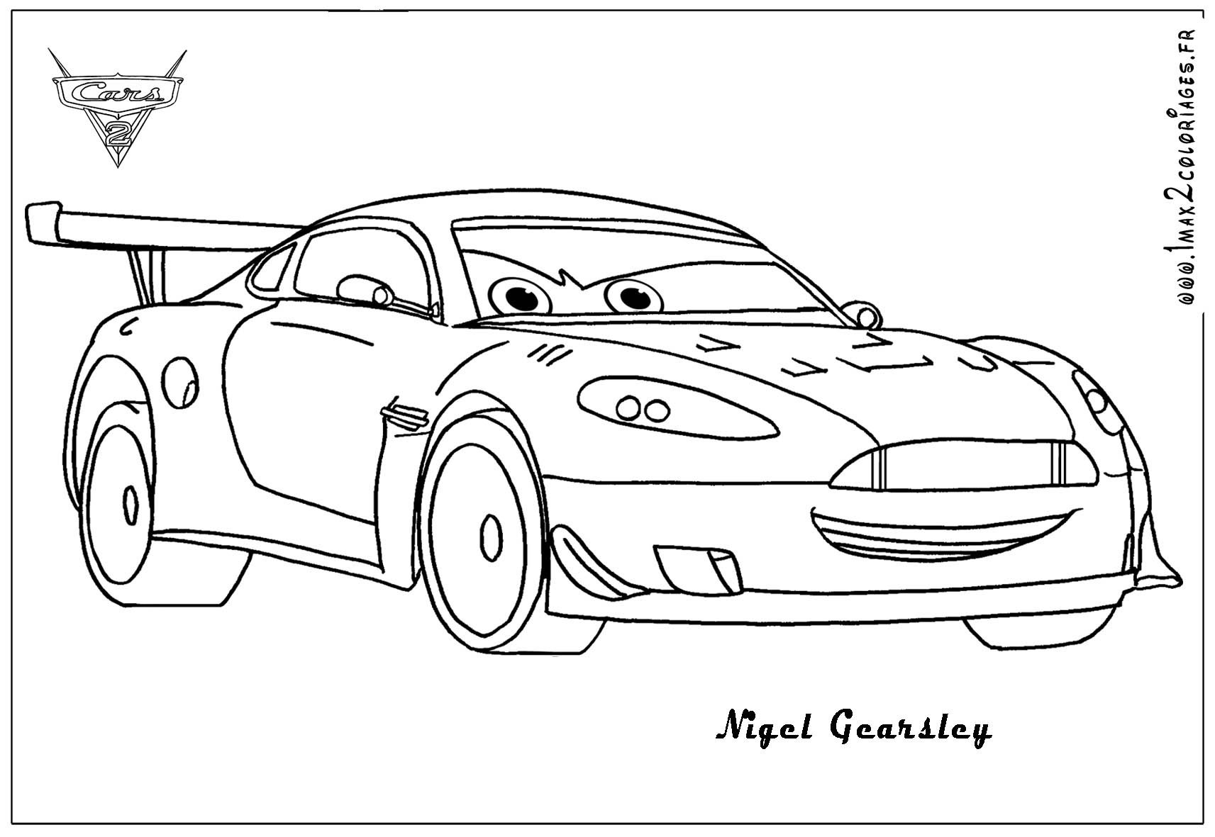 Cars 2 Coloring Pages Ausmalbilder Lightning Mcqueen