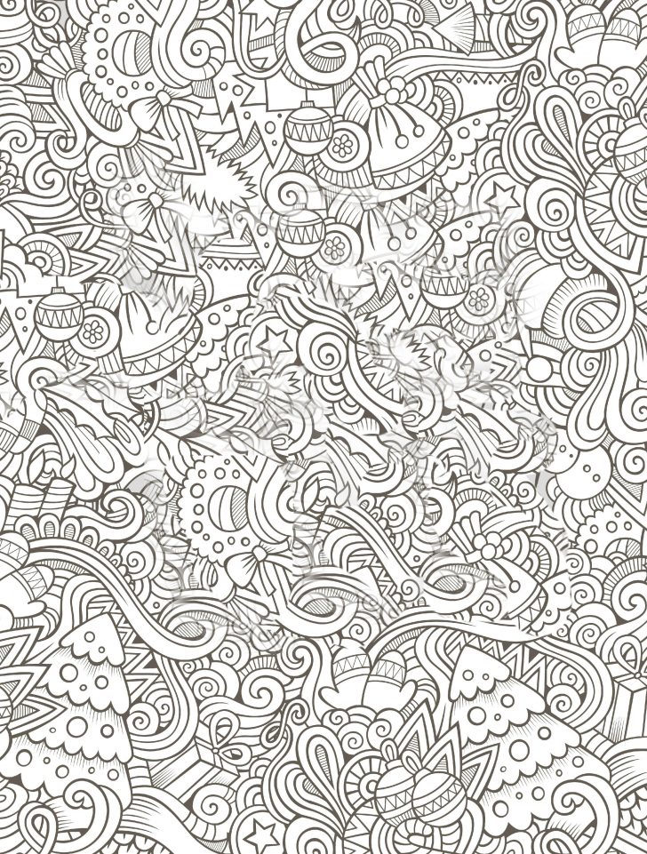 Free Printable Santa Coloring Pages | 961x728