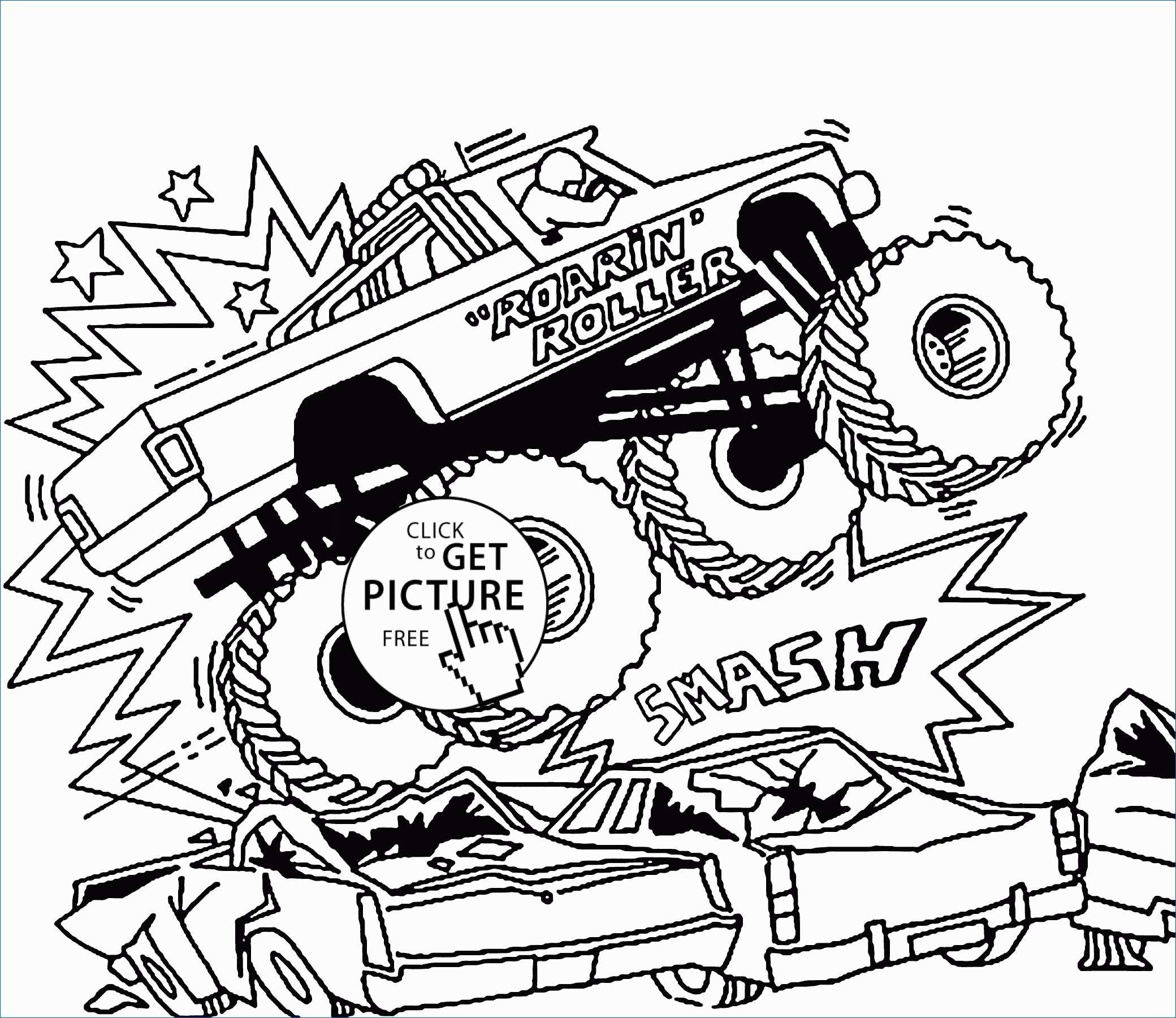 Coloring Pages Monster Trucks Free Monster Truck Coloring Pages To Print New Free Monster Truck Birijus Com