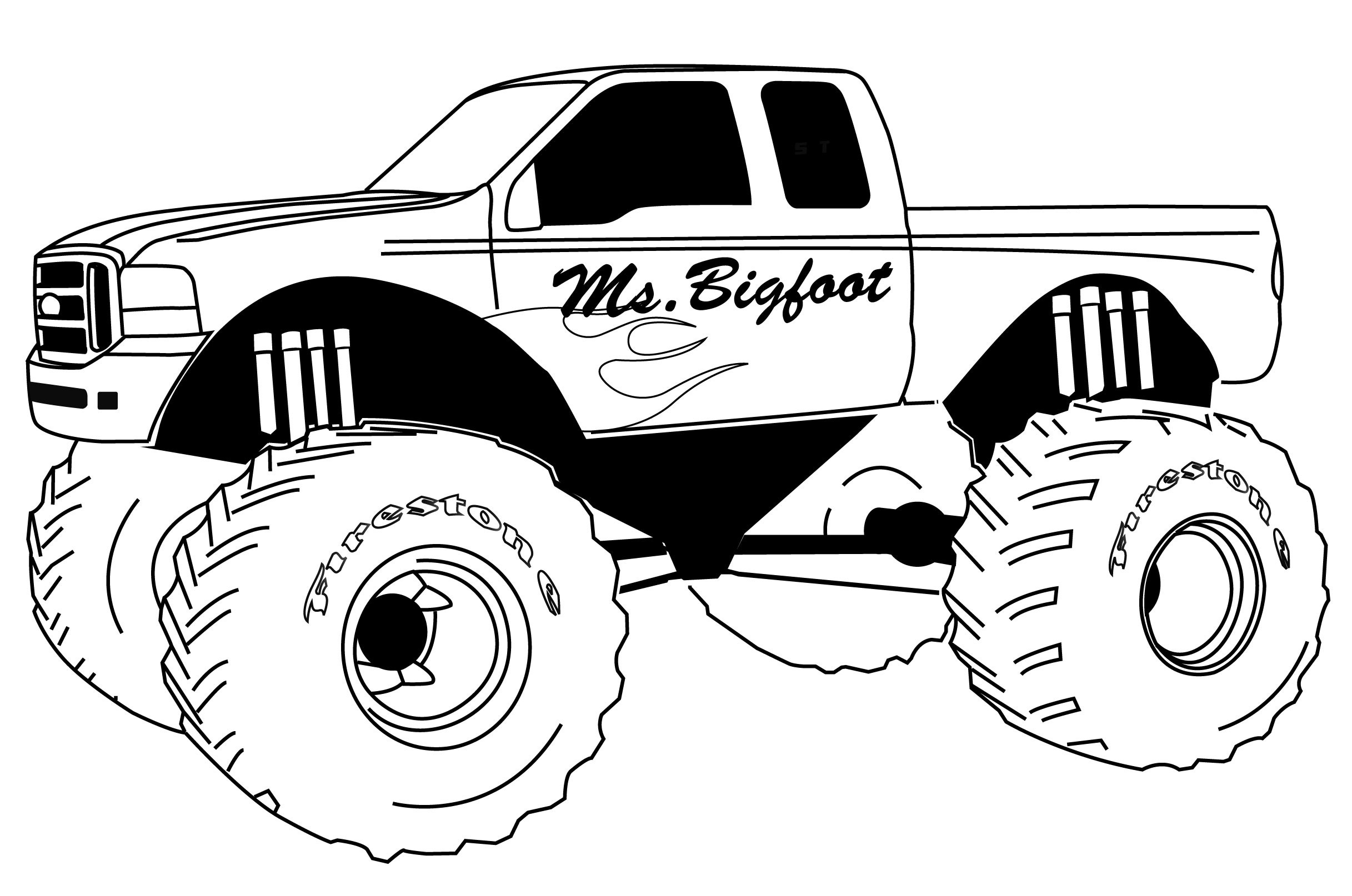 - Coloring Pages Monster Trucks Free Printable Monster Truck Coloring Pages  For Kids - Birijus.com