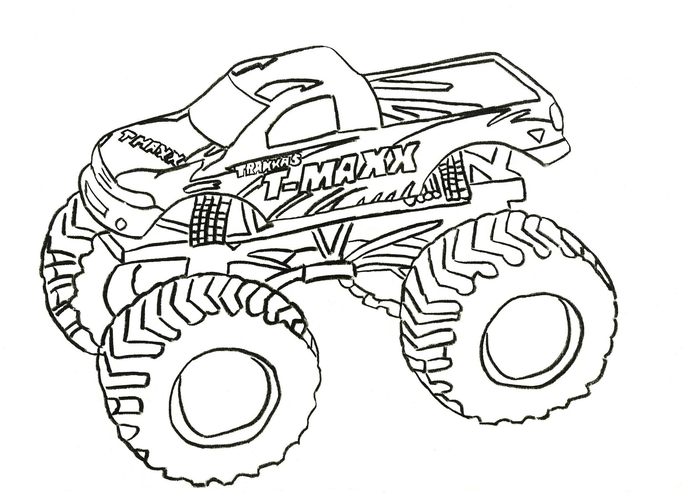 Coloring Pages Monster Trucks Free Printable Monster Truck