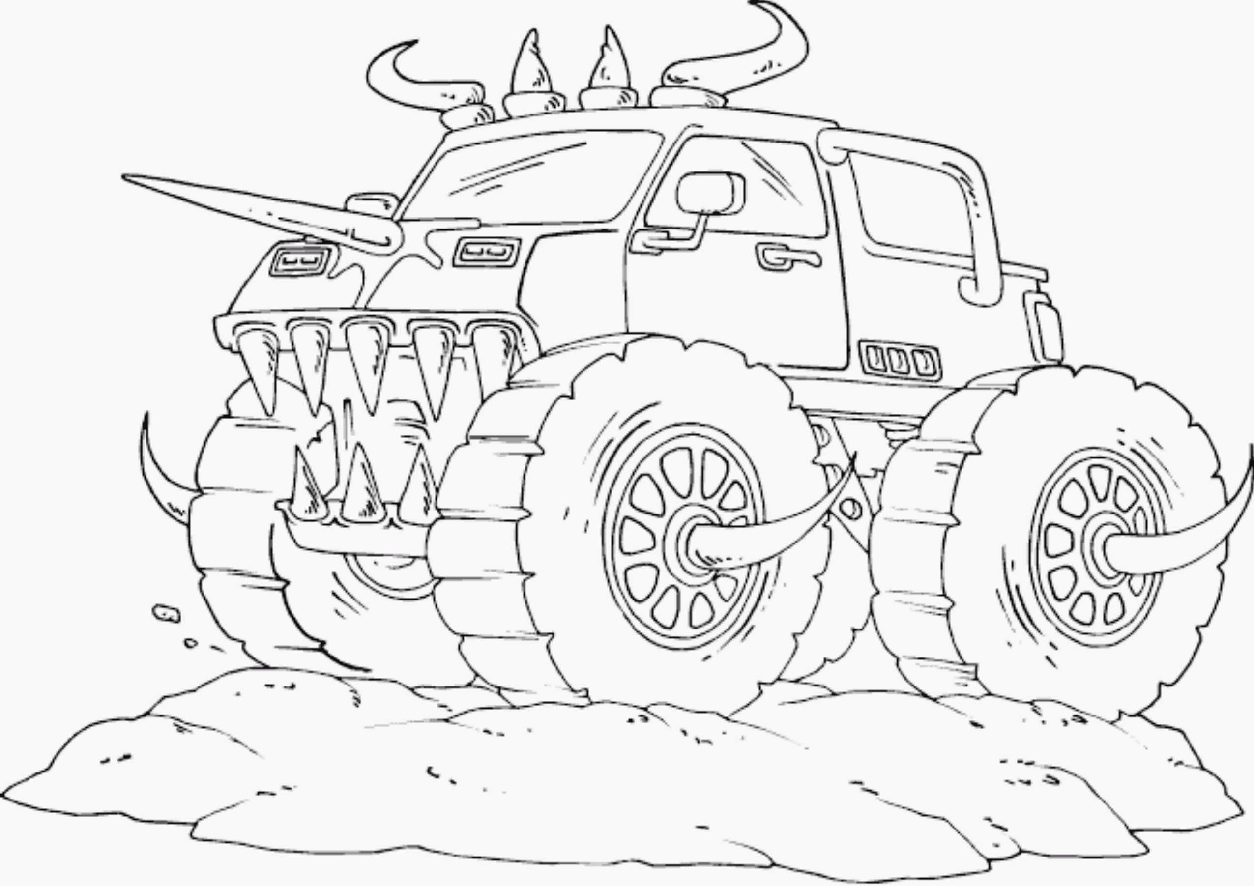 Free Printable Monster Truck Coloring Pages For Kids | 1803x2551