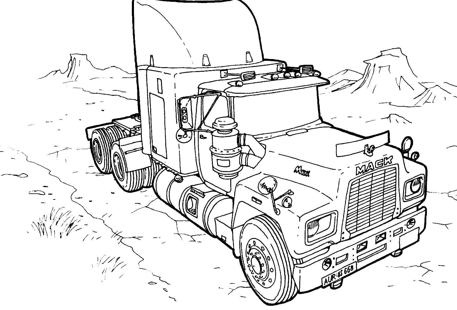 Coloring Pages Monster Trucks Monster Truck 9 Transportation Printable Coloring Pages Birijus Com