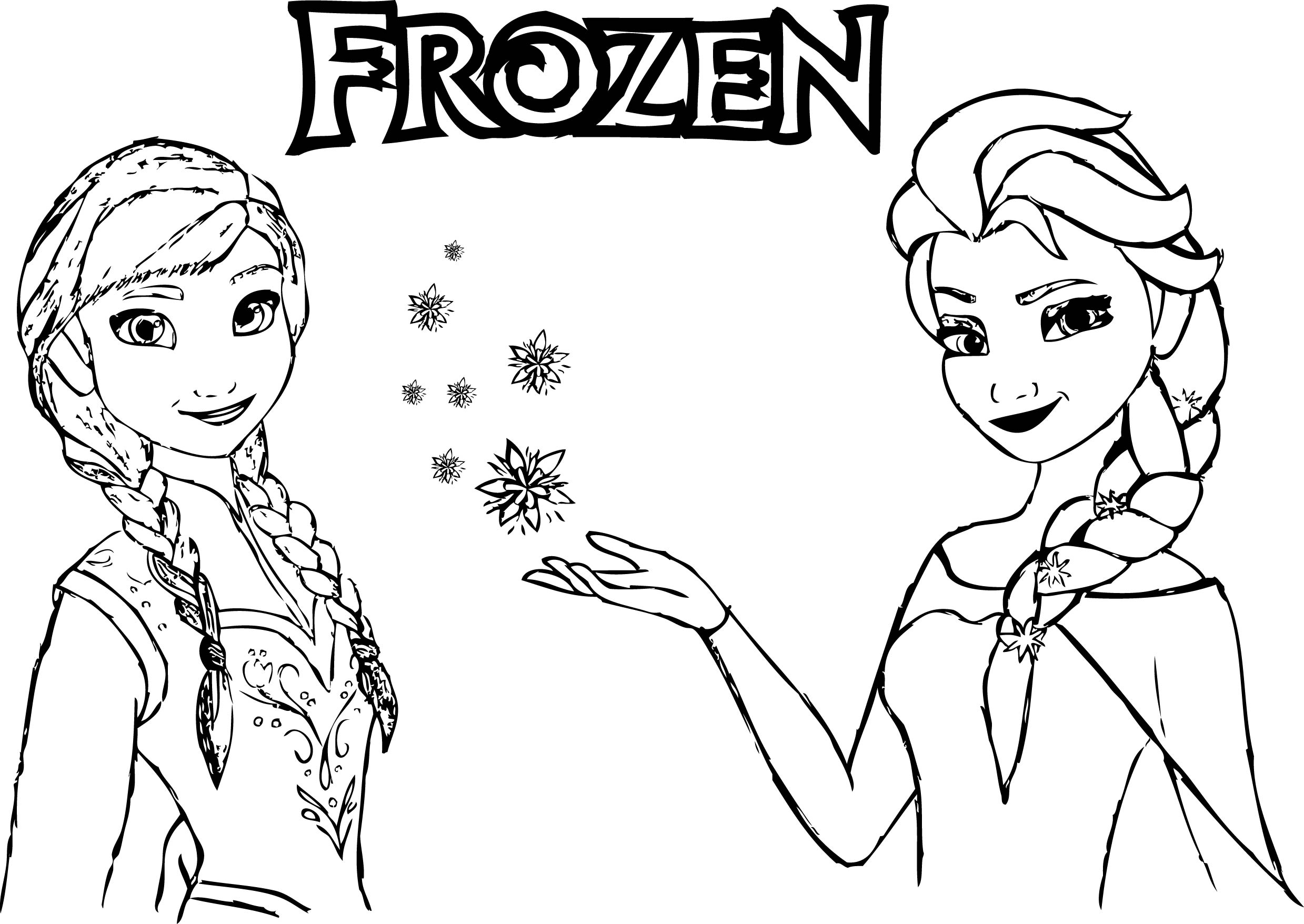 Coloring Pages Of Elsa Elsa And Anna Coloring Pages Wuming - birijus.com