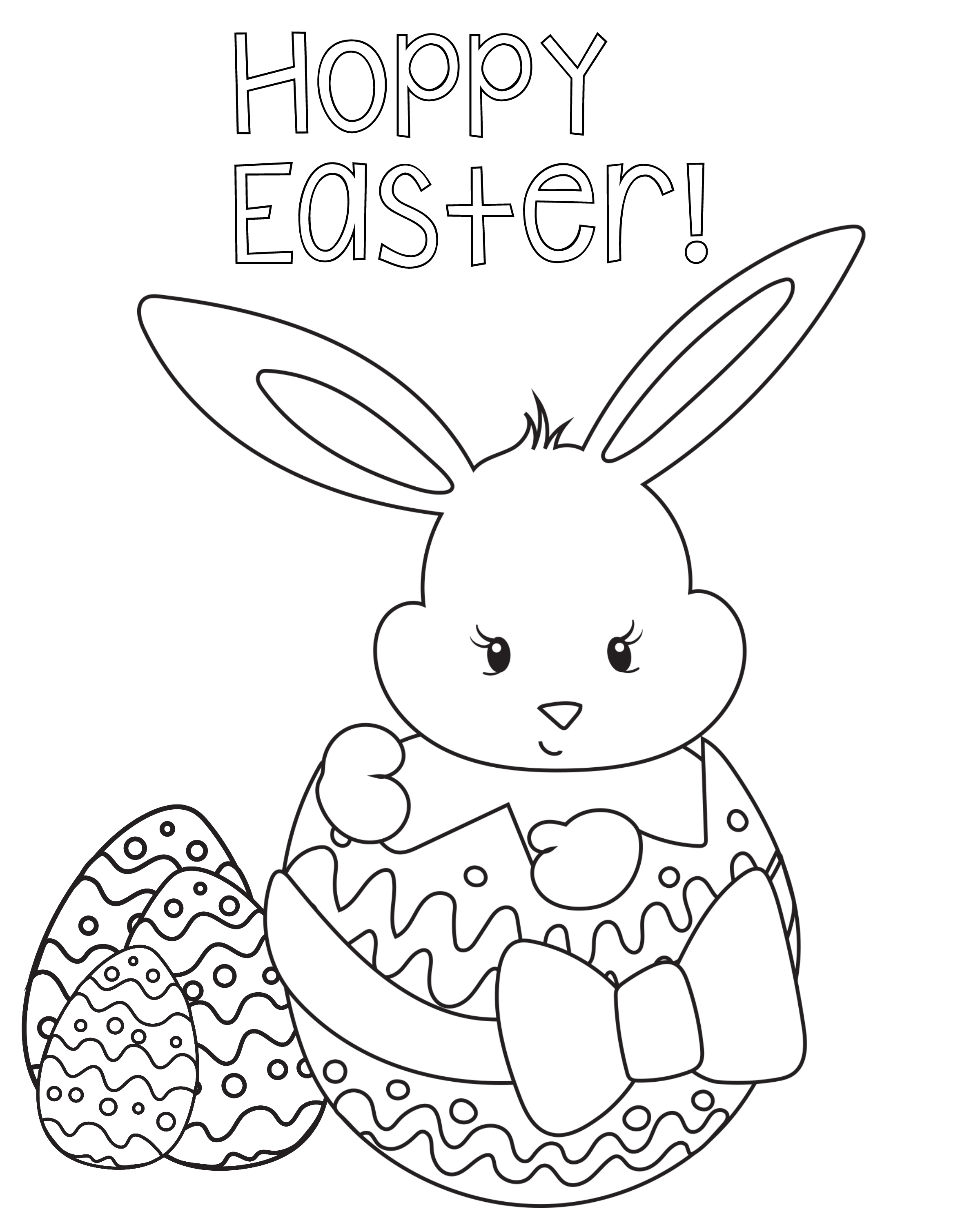 17 Best Places for Easter Coloring Pages for the Kids | 3000x2400