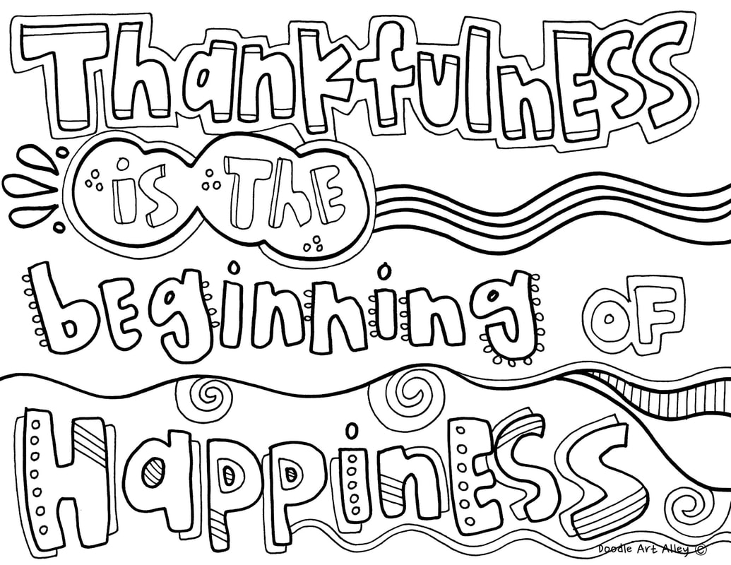 - Coloring Pages Quotes Coloring Thankful Quotes Doodle Art Alley