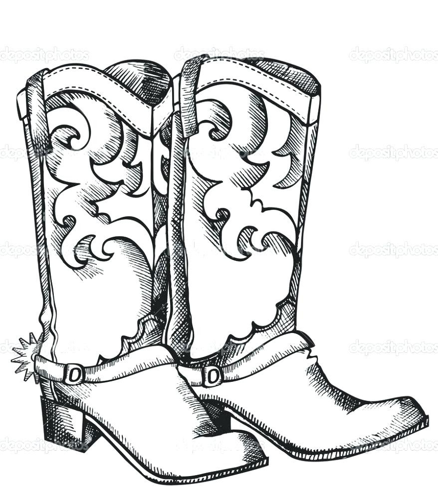 The Best Free Printable Cowboy Boot Coloring Page
