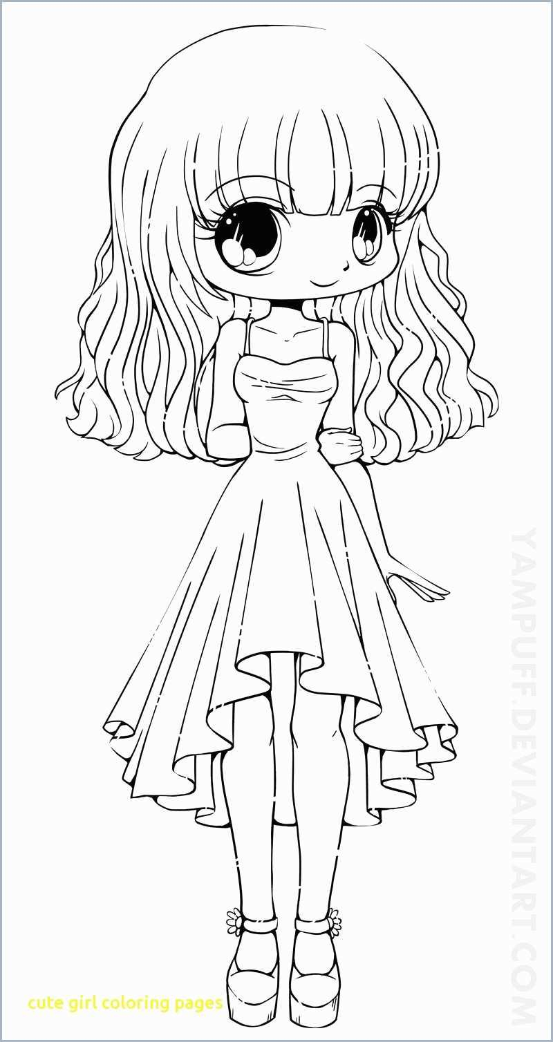 Cute Girl Coloring Pages Anime Coloring Pages Girl Best New
