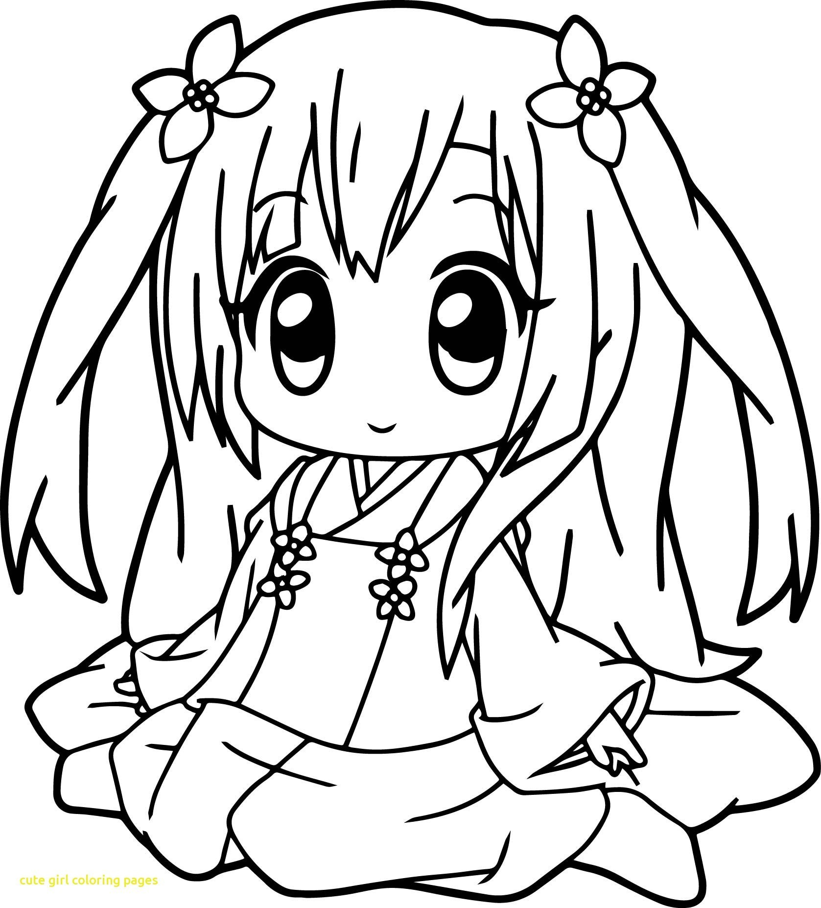 Cute Girl Coloring Pages Cute Anime Color Pages To Print In Girl Colouring  Pdf Easy Iydunetwork - birijus.com