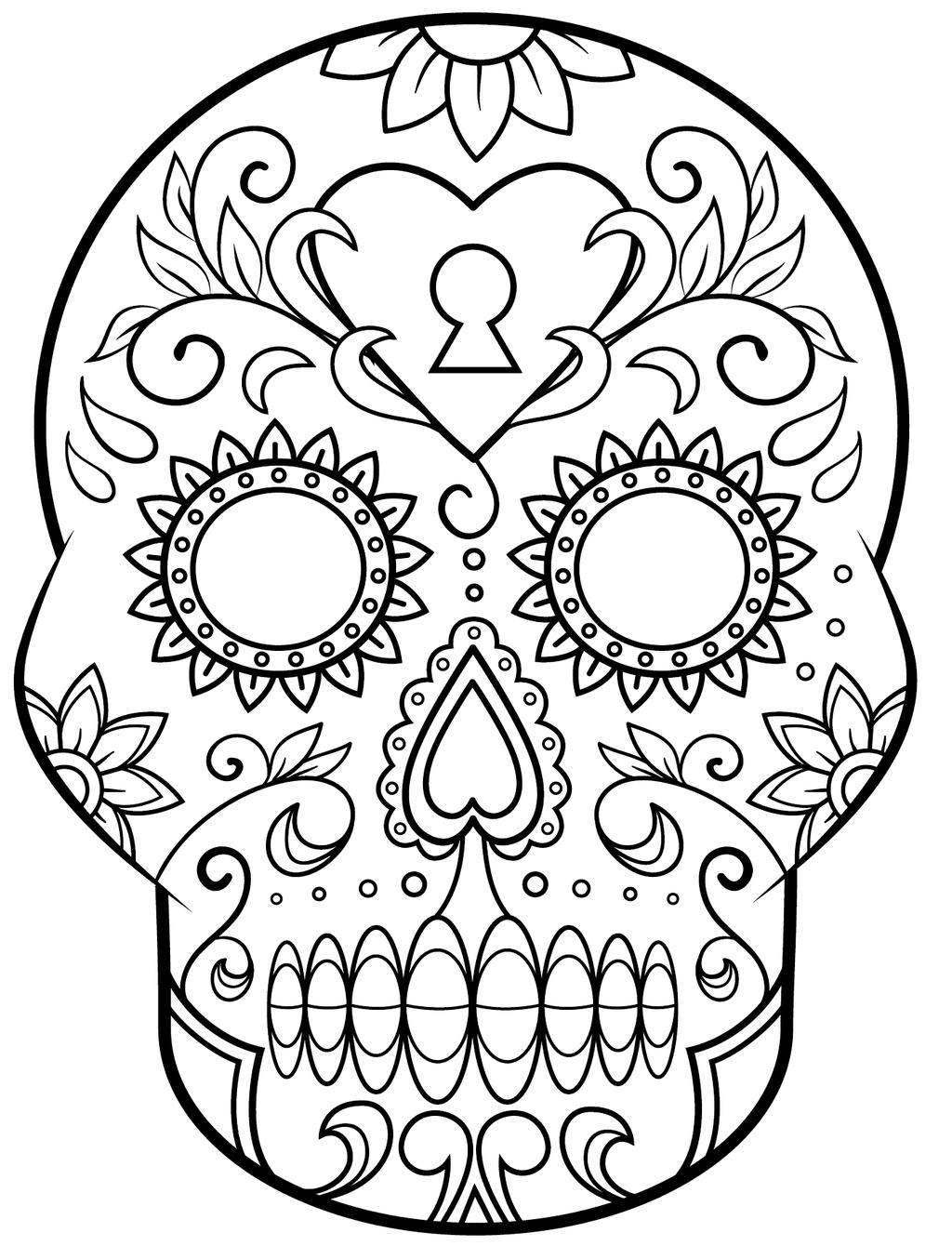 Day Of The Dead Coloring Pages Skulls Coloring Pages Day Dead