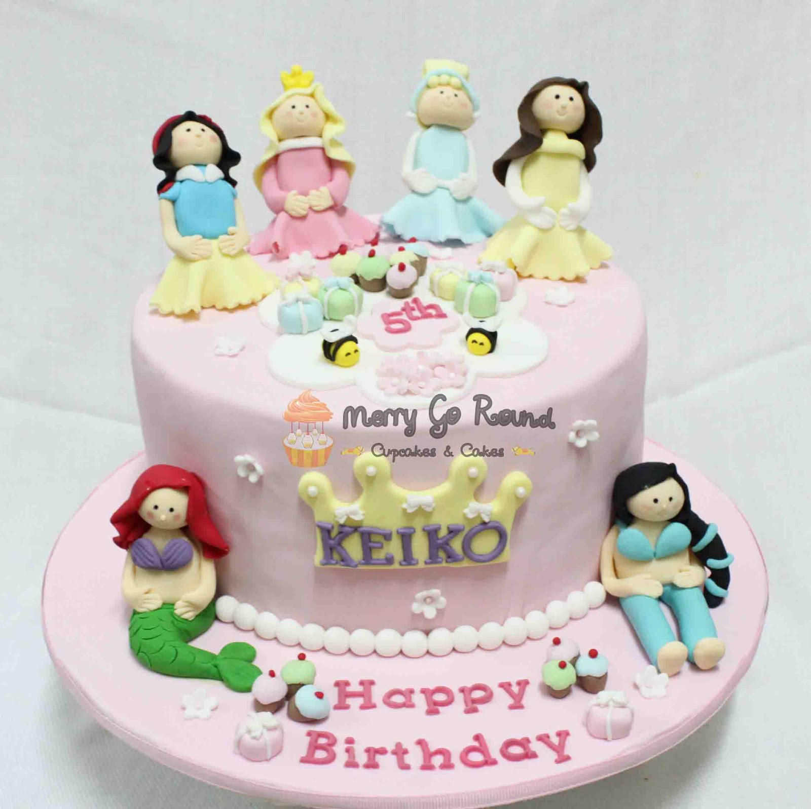 Disney Princess Birthday Cakes Merry Go Round Cupcakes Cake