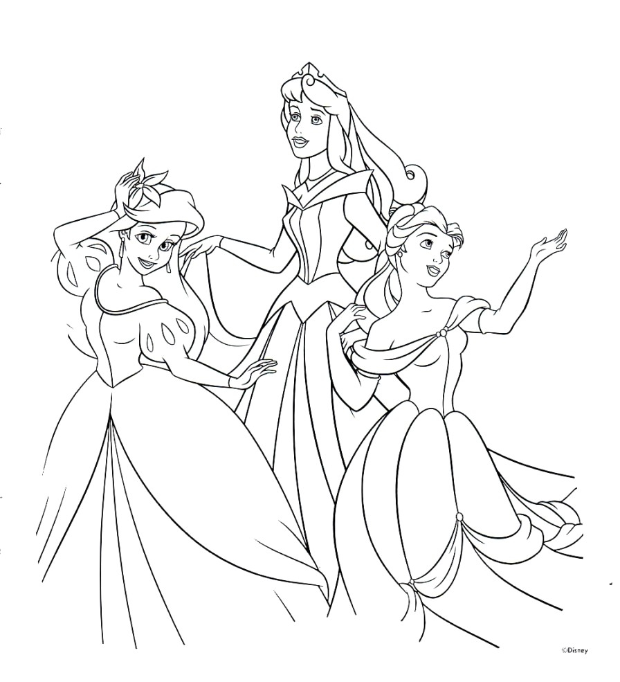 Disney Princess Coloring Page Disney Princesses Coloring Pages