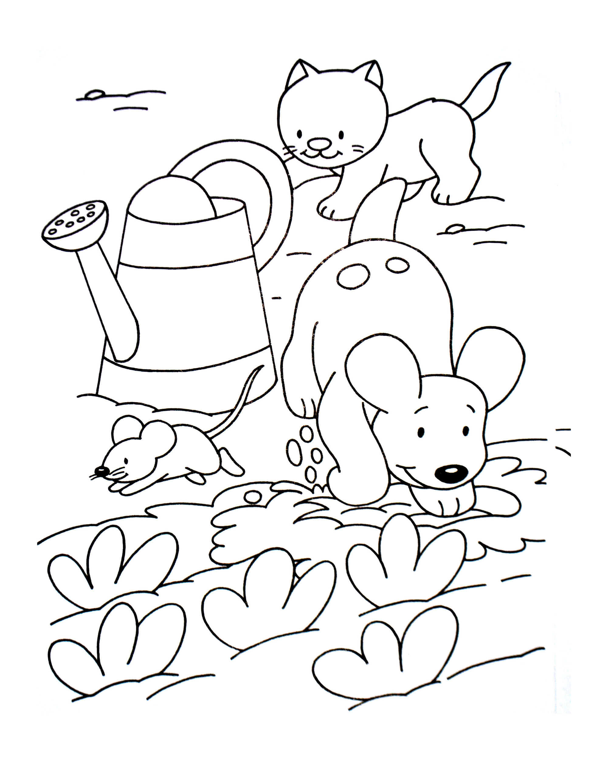 - Dog And Cat Coloring Pages Dog Cat And Mouse Animal Coloring Pages