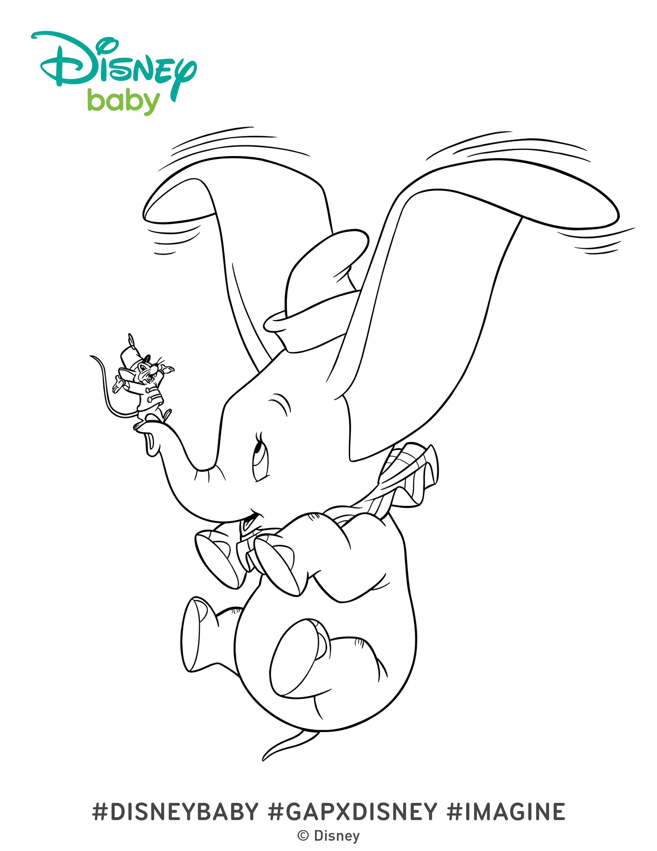 Dumbo Coloring Pages | Elephant coloring page, Disney coloring ... | 3300x2550