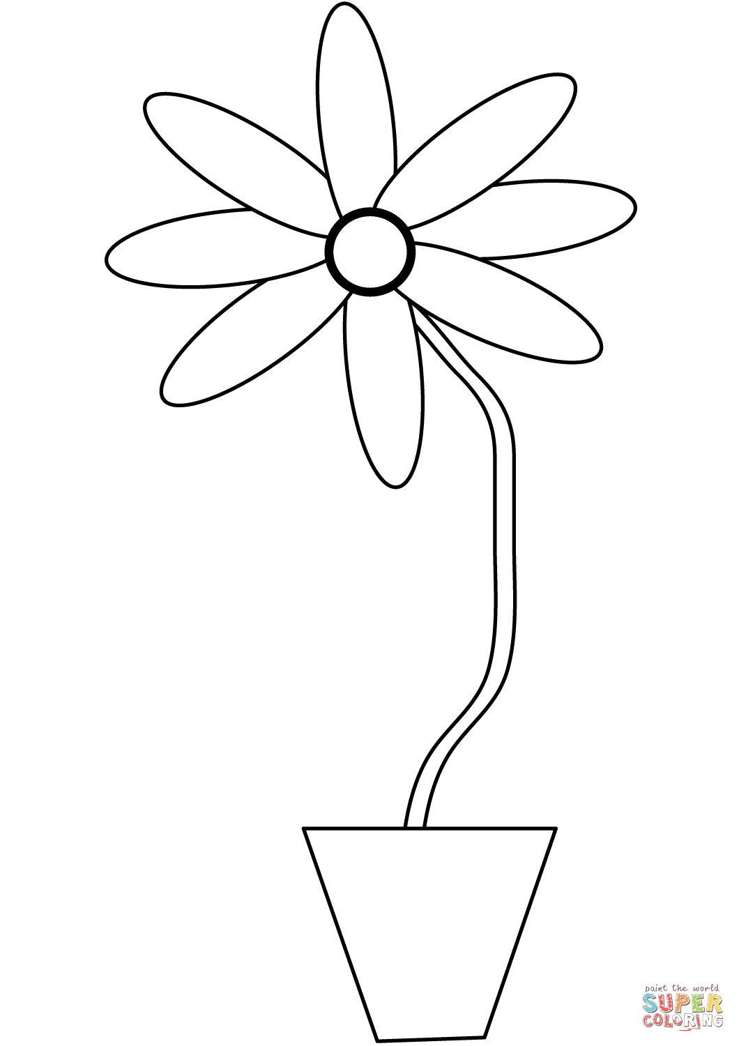 graphic about Flower Pot Printable named Free of charge Printable Flower Pot Coloring Webpage - Bouquets Balanced