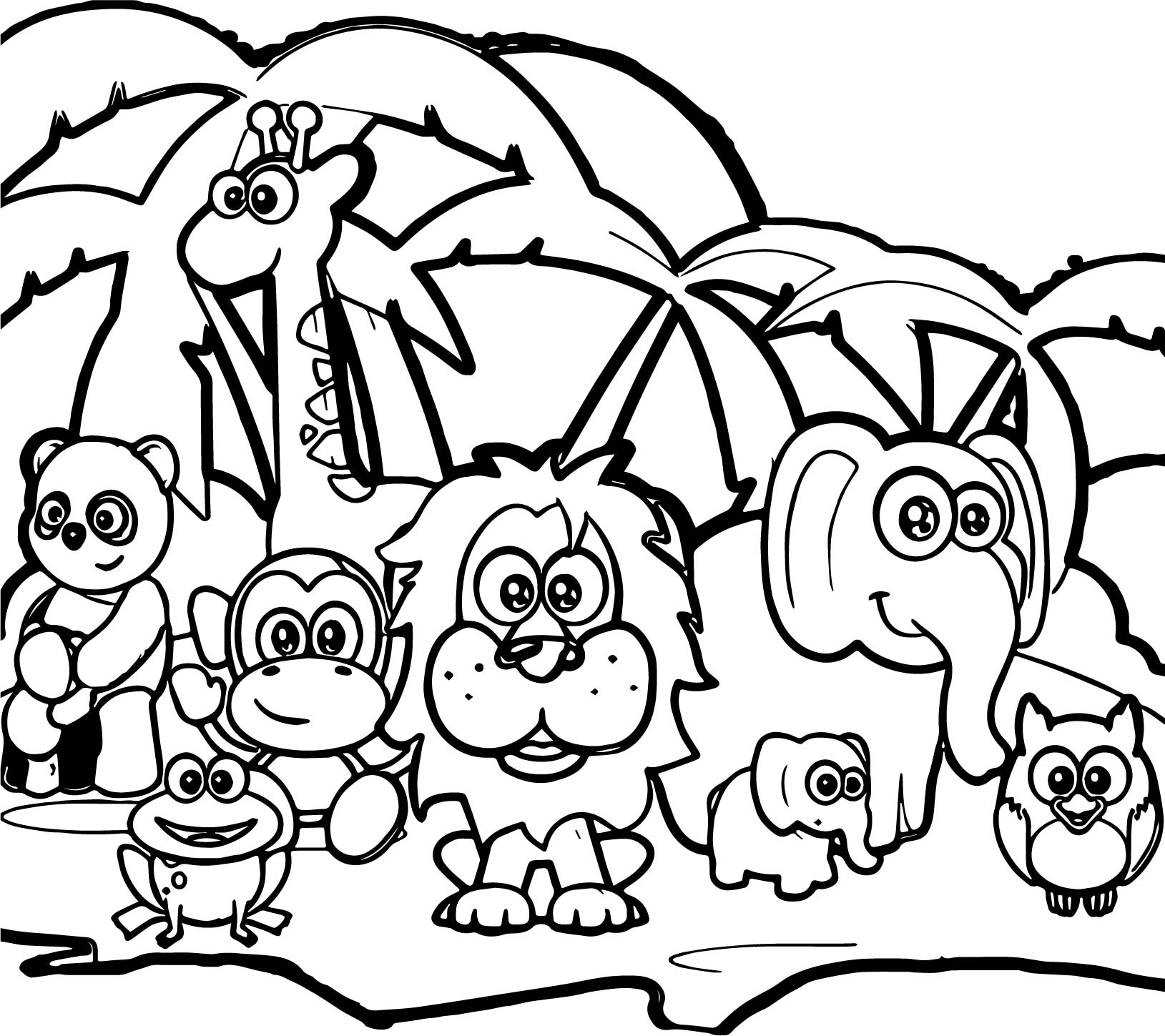 Forest Animals Coloring Pages Abc Forest Animal Coloring Page Wecoloringpage Birijus Com