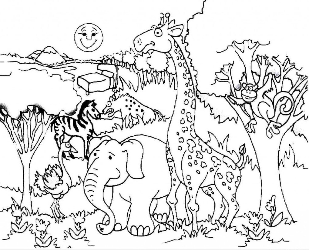 Color the Forest Holiday! | Worksheet | Education.com | Animal ... | 825x1019