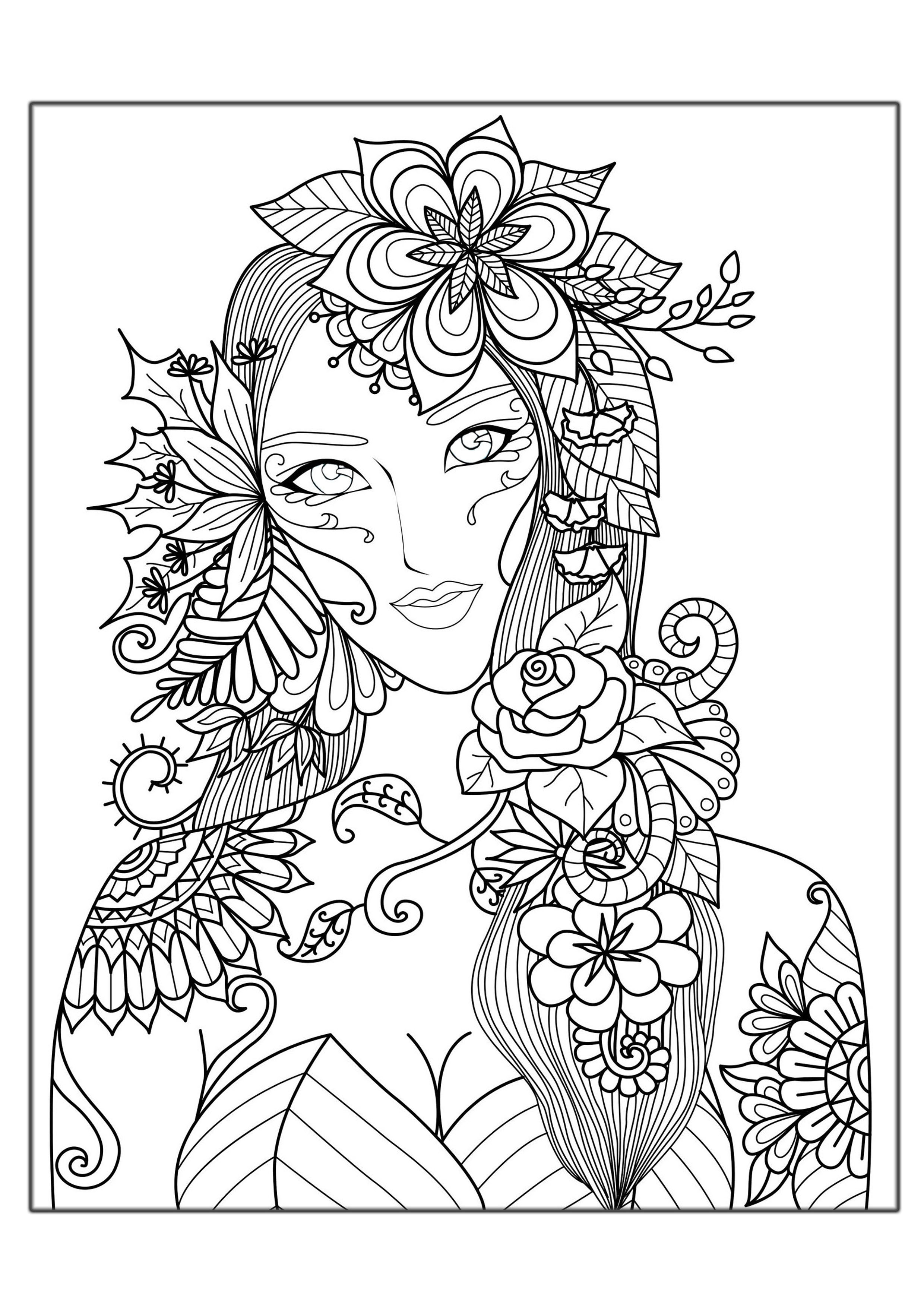 - Free Coloring Pages For Adults To Print Hard Coloring Pages For