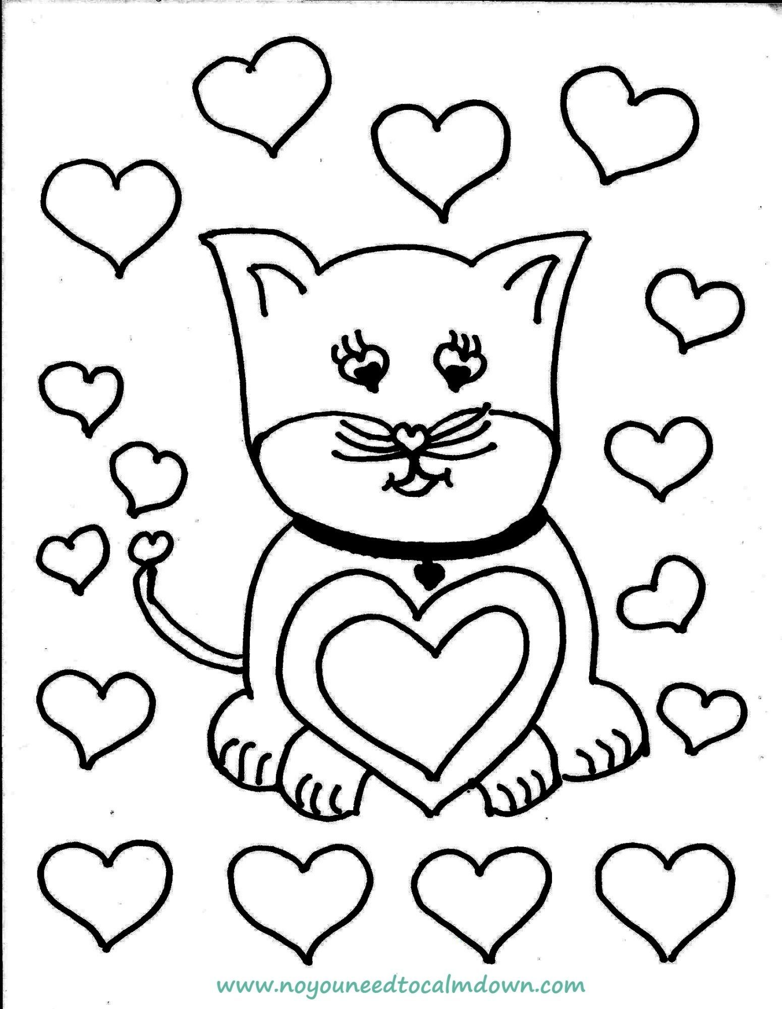 Free Valentines Day Coloring Pages Coloring Pages Free ...