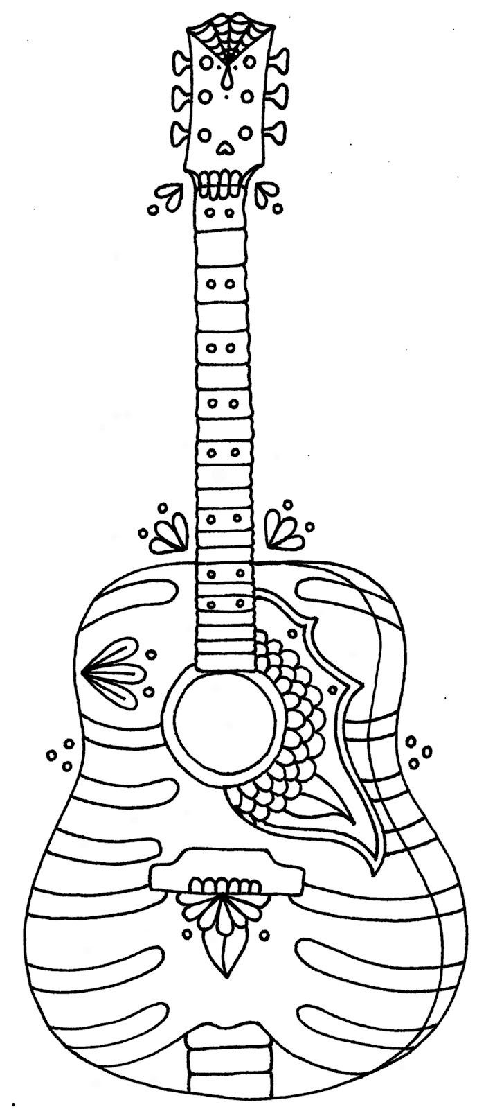 Free printable musical instruments coloring pages | Music coloring ... | 1600x702