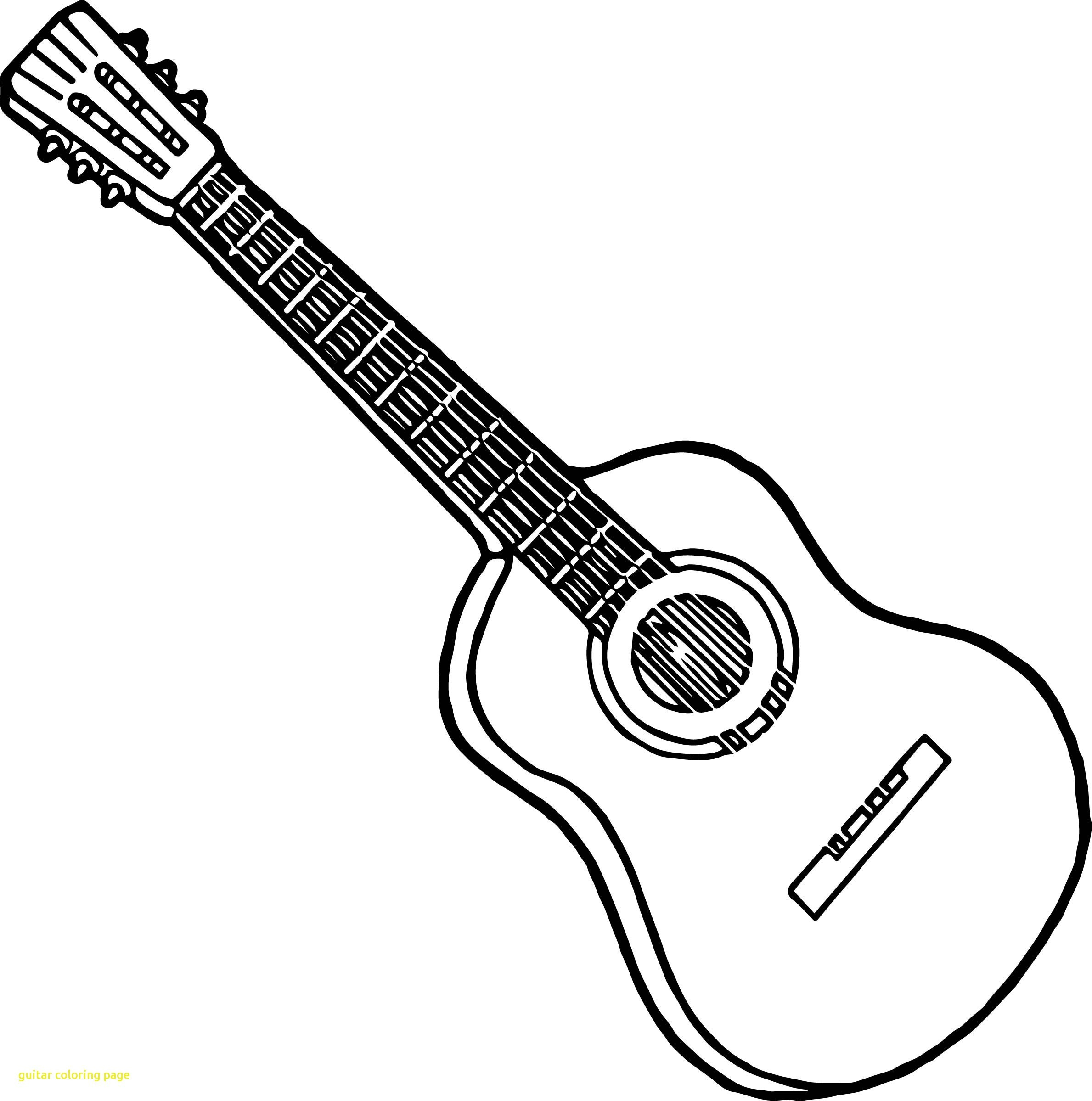 graphic about Guitar Printable titled Guitar Coloring Website page Hottest Guitar Coloring Web site With 6382