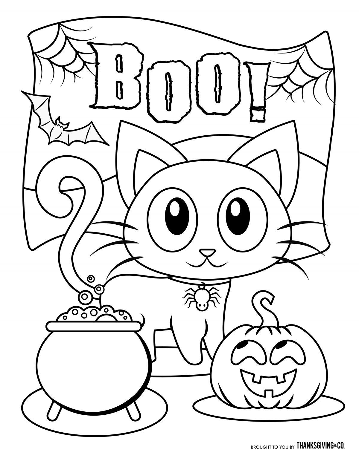 Halloween Coloring Page Free Halloween Coloring Pages For Kids Or For The  Kid In You - birijus.com