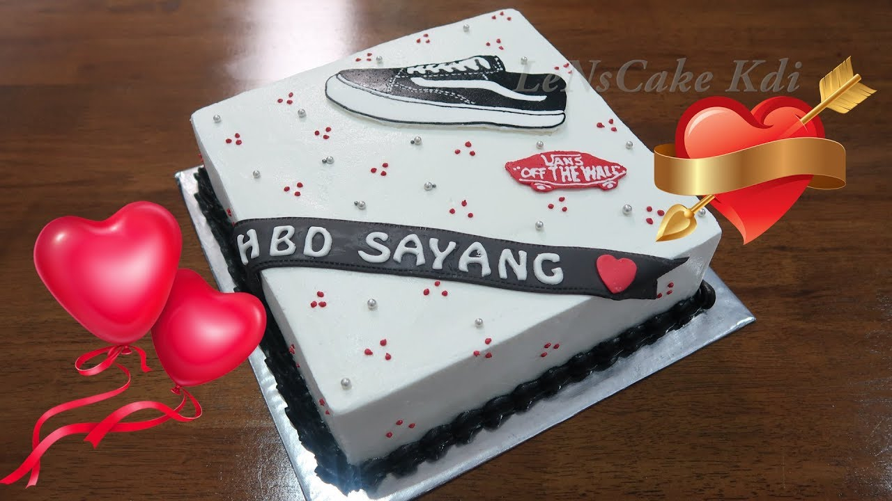 Happy Birthday Shoe Cake Kue Ulang Tahun Sederhana Sepatu Happy Birthday Cake Simple Shoes Birijus Com