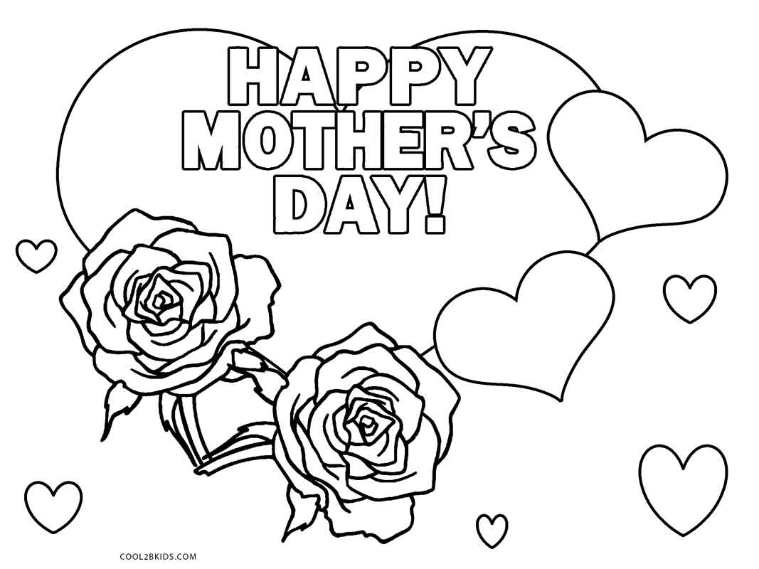 graphic about Printable Mothers Day Coloring Pages referred to as Delighted Moms Working day Coloring Web pages Absolutely free Printable Moms Working day