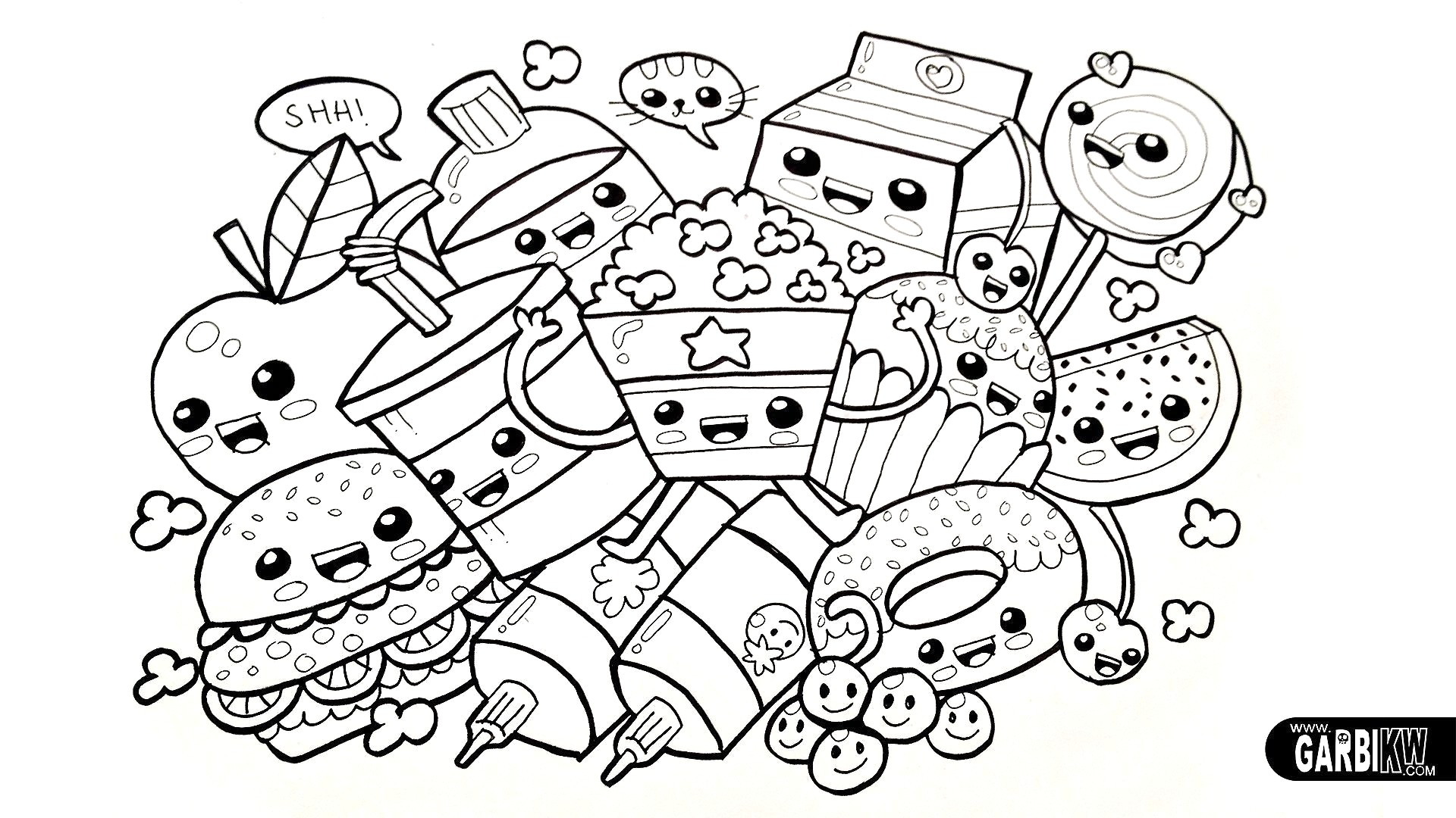 Hard Coloring Pages Cute But Hard Coloring Pages Mosm