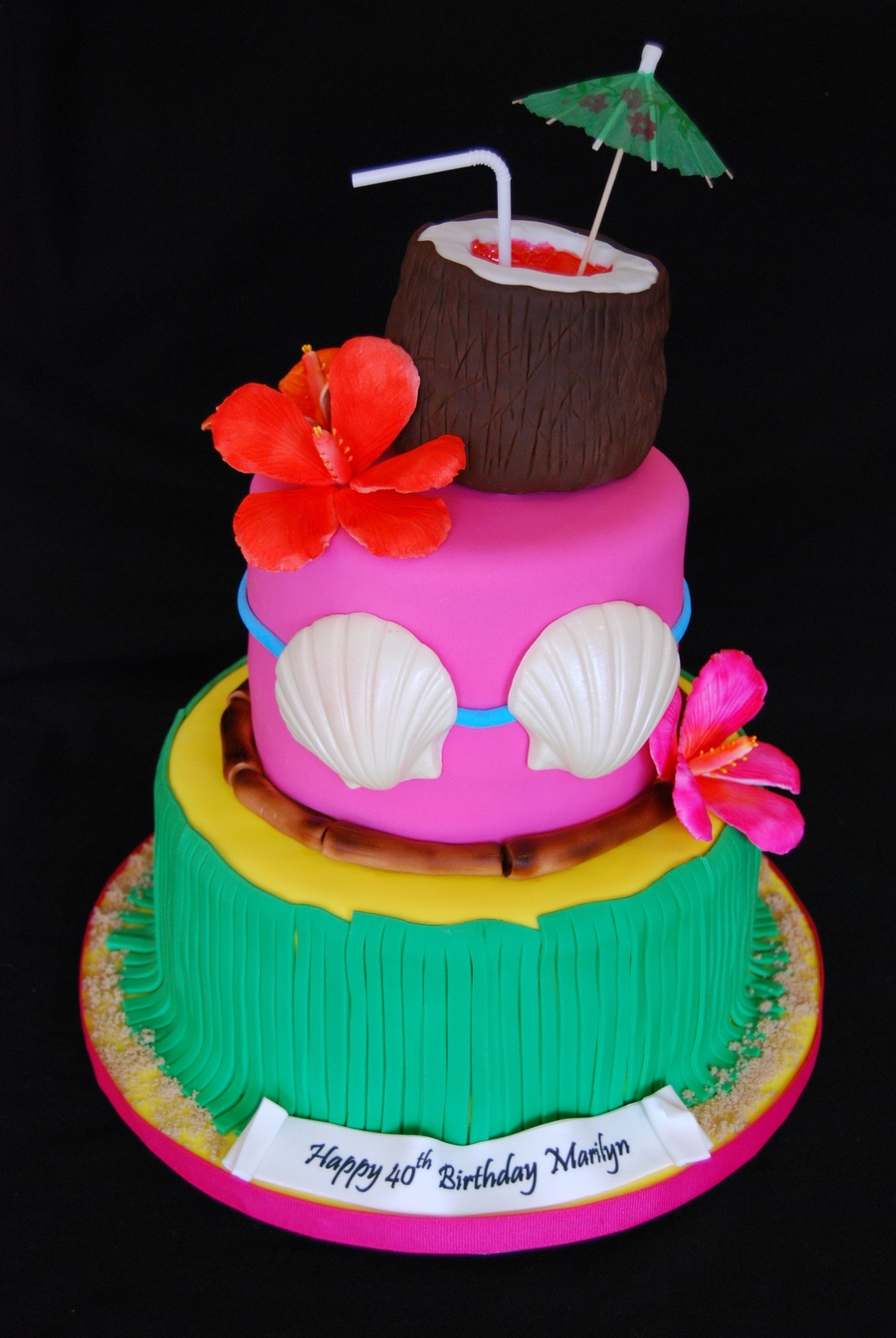 1344 In 27 Amazing Picture Of Hawaiian Birthday Cake