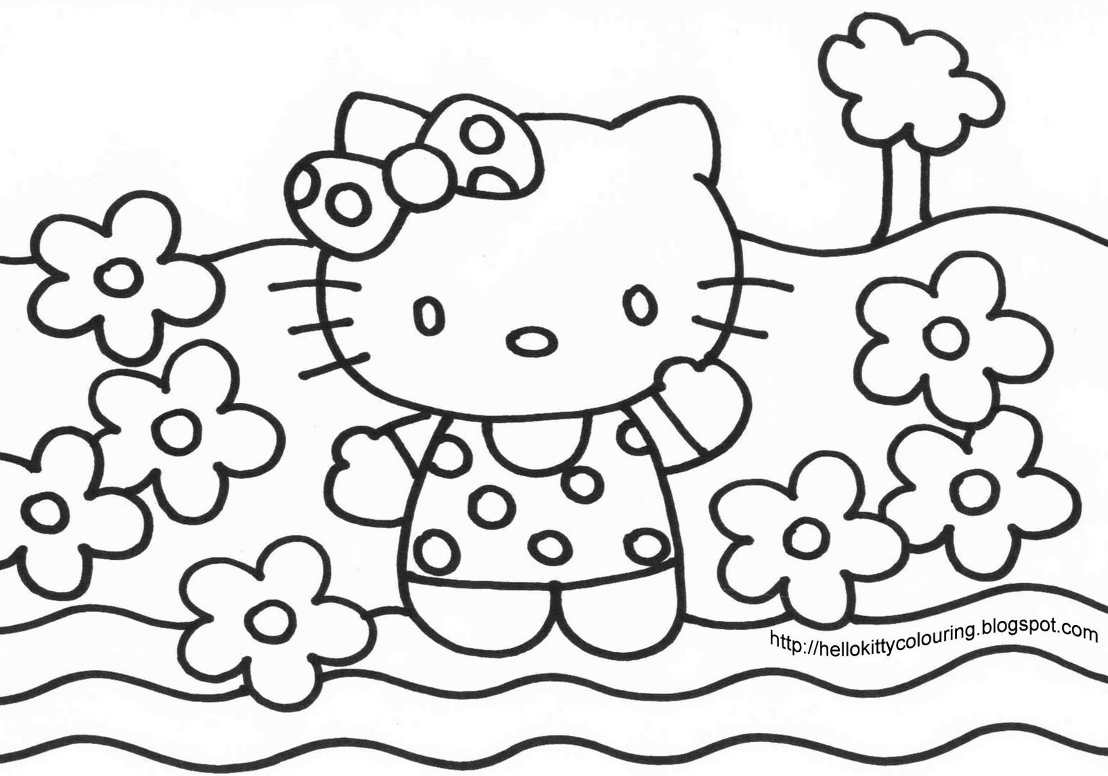 Hello Kitty Coloring Pages Big Coloring Pages Of Hello Kitty With Big Coloring  Pages Of Hello - birijus.com