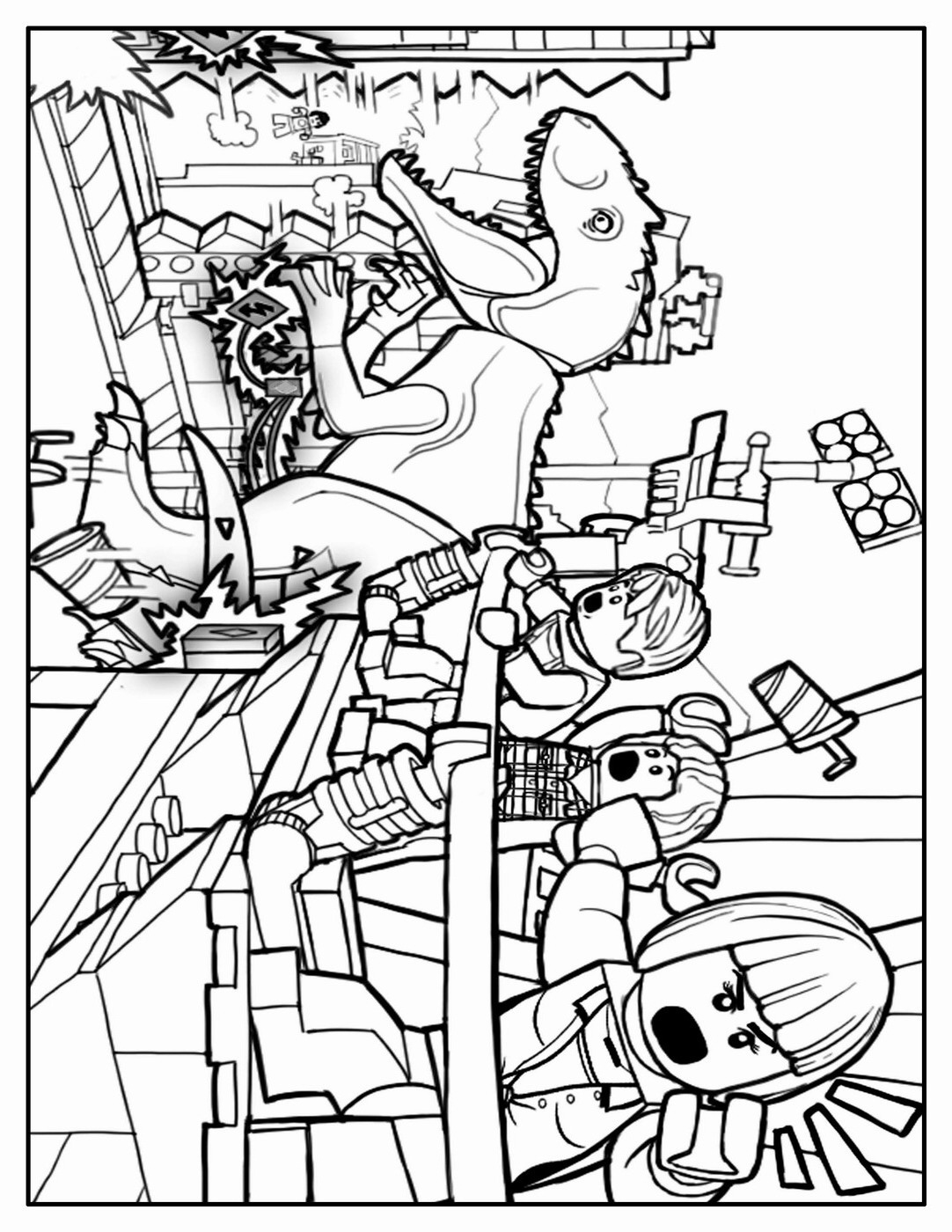Jurassic World Coloring Pages Indominus Rex - Maken Coloring Pages | 1400x1082