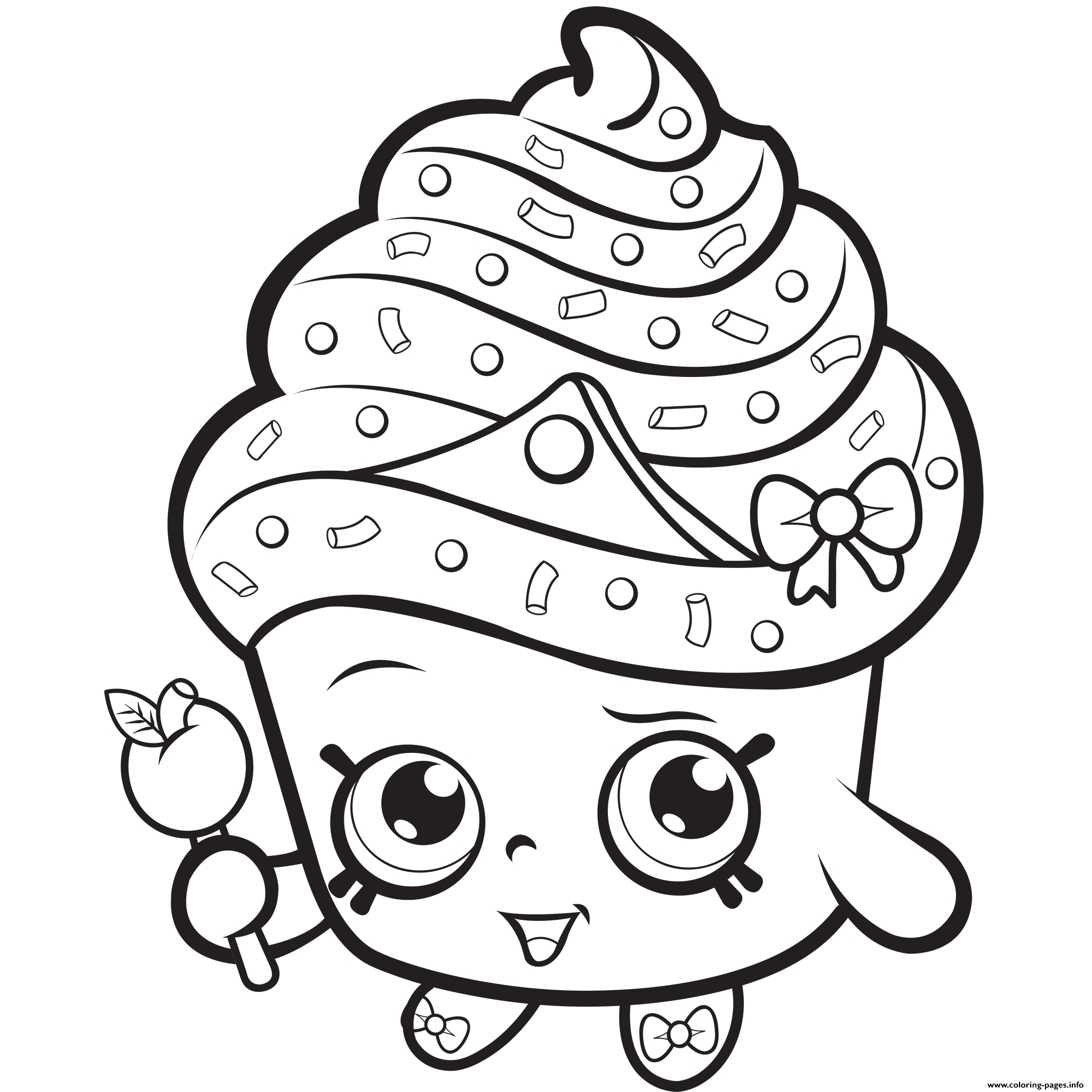 Lips Coloring Page Shopkins Lippy Lips Coloring Page