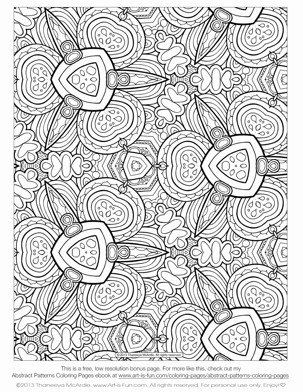 Free Printable Patterns to Color | Pattern Coloring Pages ... | 1650x1275