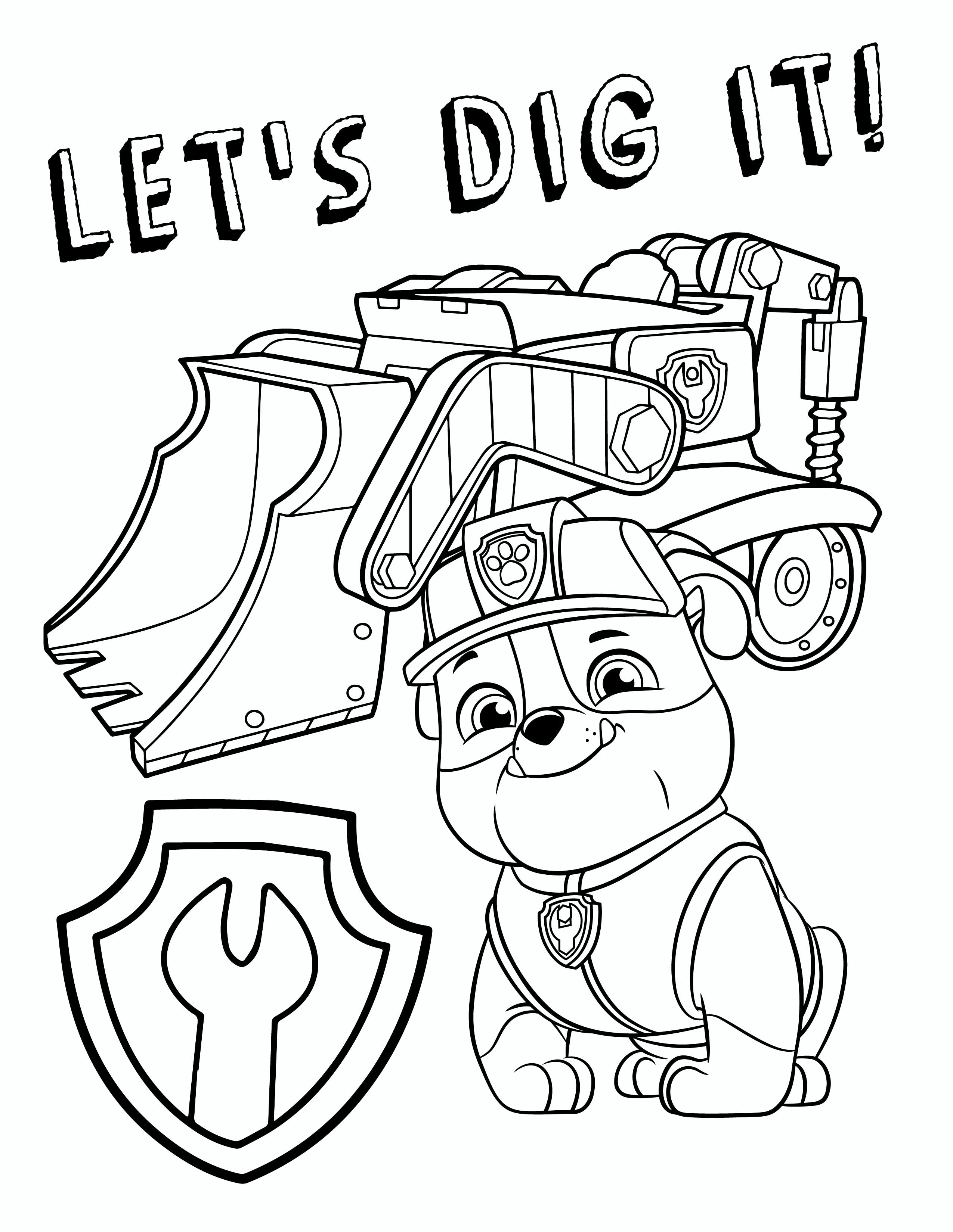 Marshall Paw Patrol Coloring Page Coloring Pages Paw Patrol ...