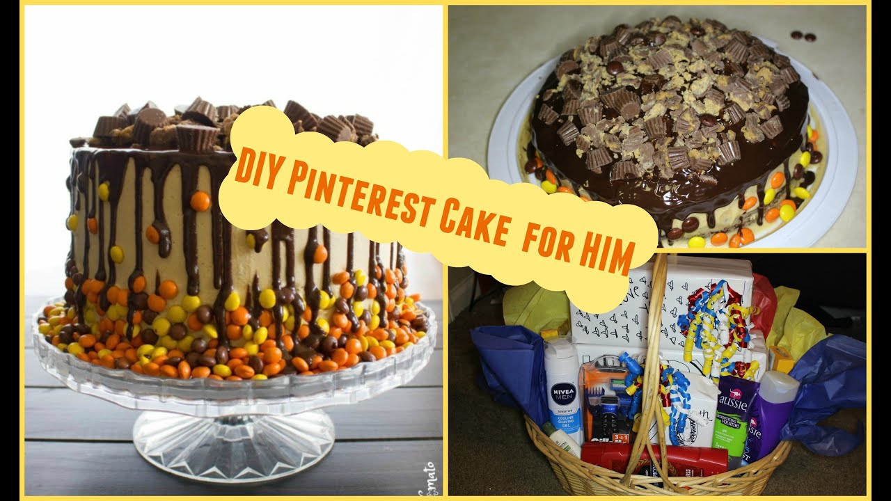 Mens Birthday Cakes Diy Easy Pinterest Cake For Him Gift Basket