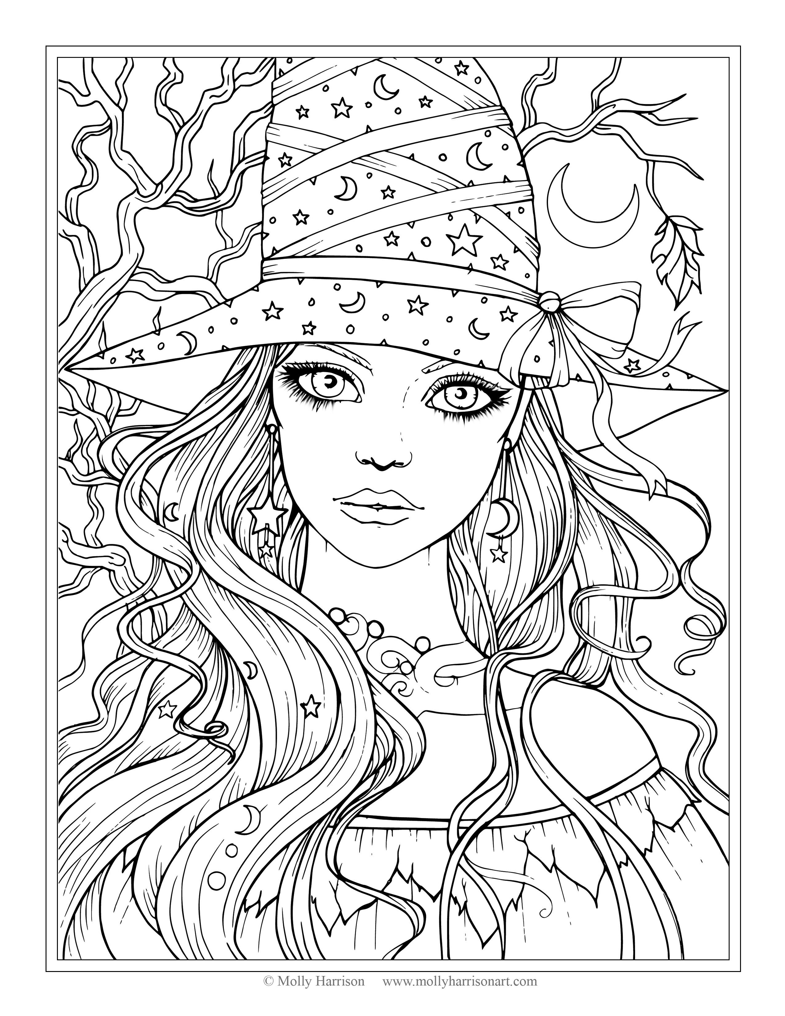 Mia And Me Coloring Pages New Free Witch Coloring Page Halloween