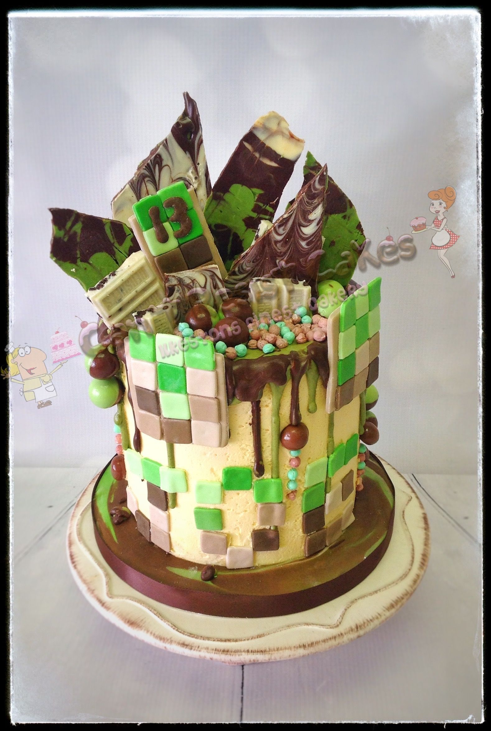 1578 X 2345 In 32 Elegant Photo Of Minecraft Birthday Cake