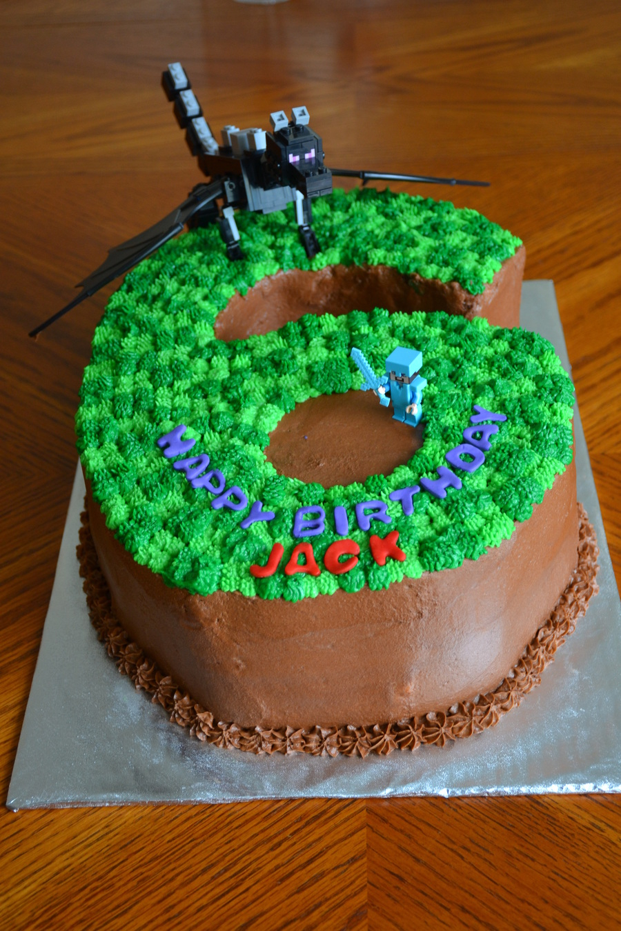 Minecraft Birthday Cakes Minecraft 6 Birthday Cake How To Make ...